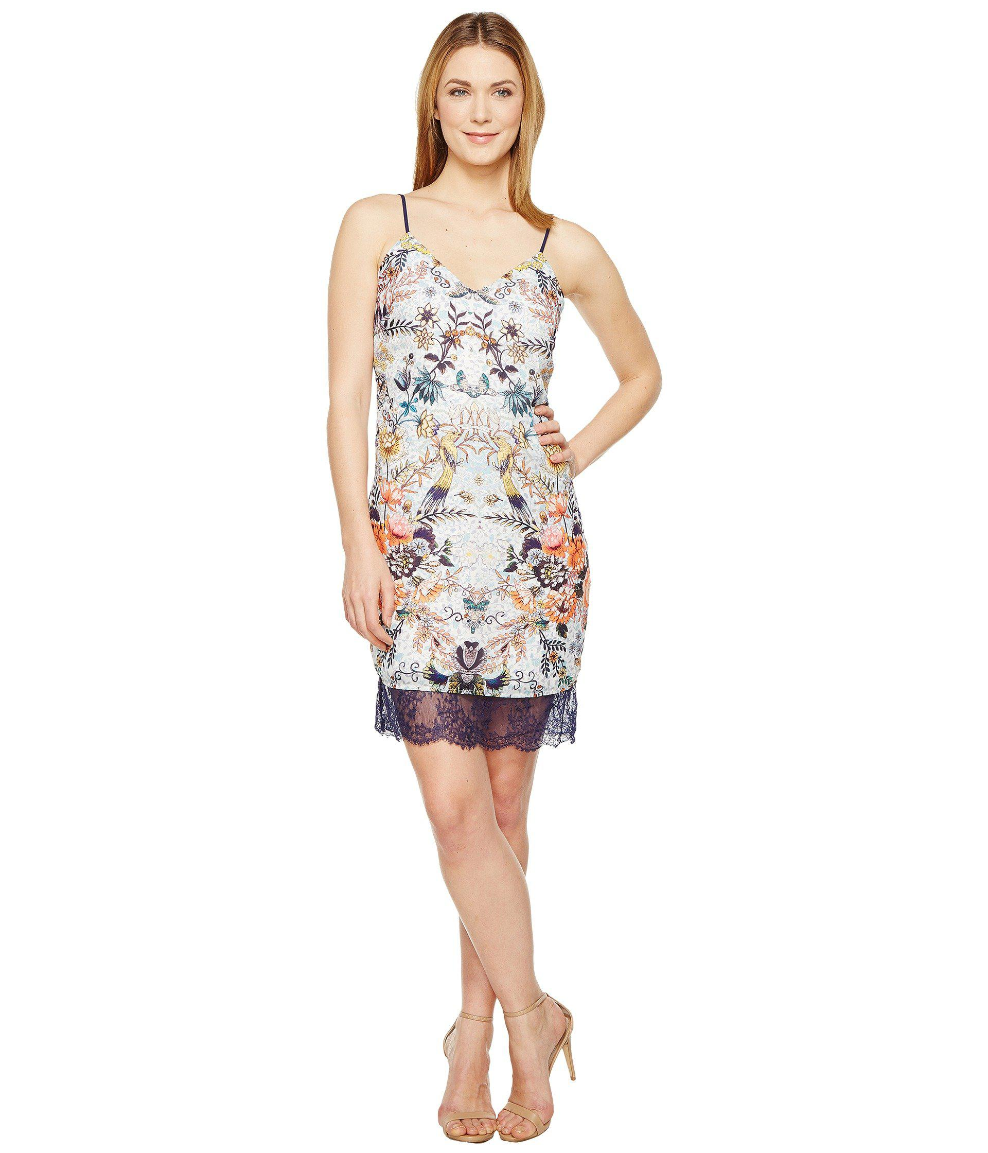 b99576a8f9 Lyst - Adelyn Rae Lydia Woven Printed Slip Dress in White - Save 65%