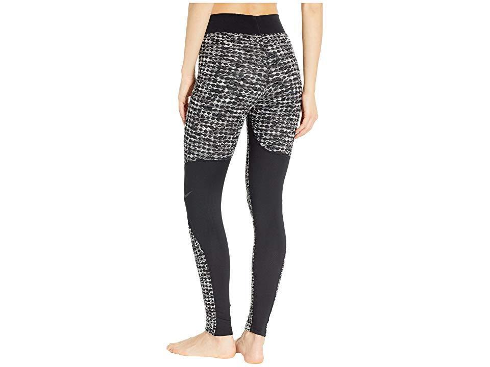 e64b35bbaf6ea Nike Pro Hyperwarm Fleece-lined Leggings in Black - Save 55% - Lyst