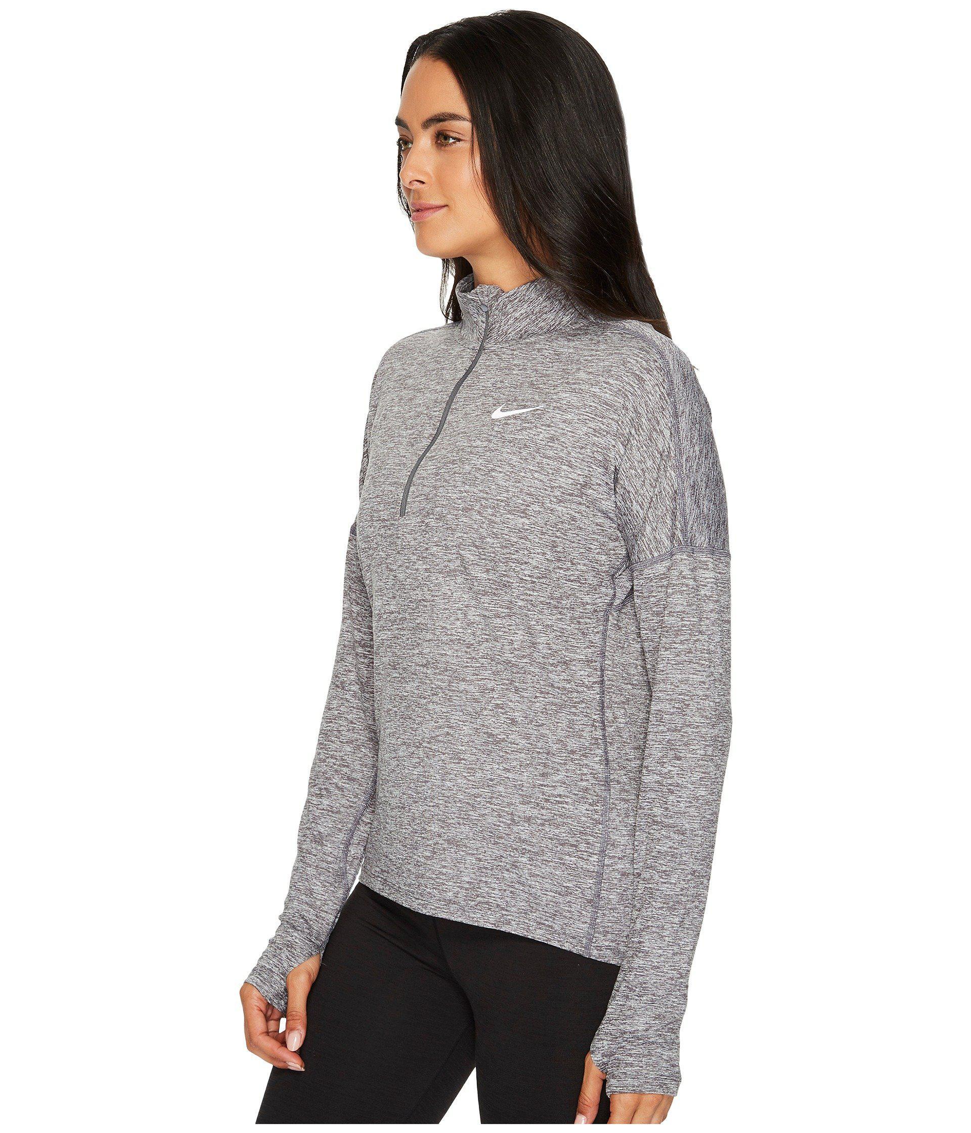 d436ba4a3ec1 Lyst - Nike Dry Element 1 2 Zip Running Top in Gray