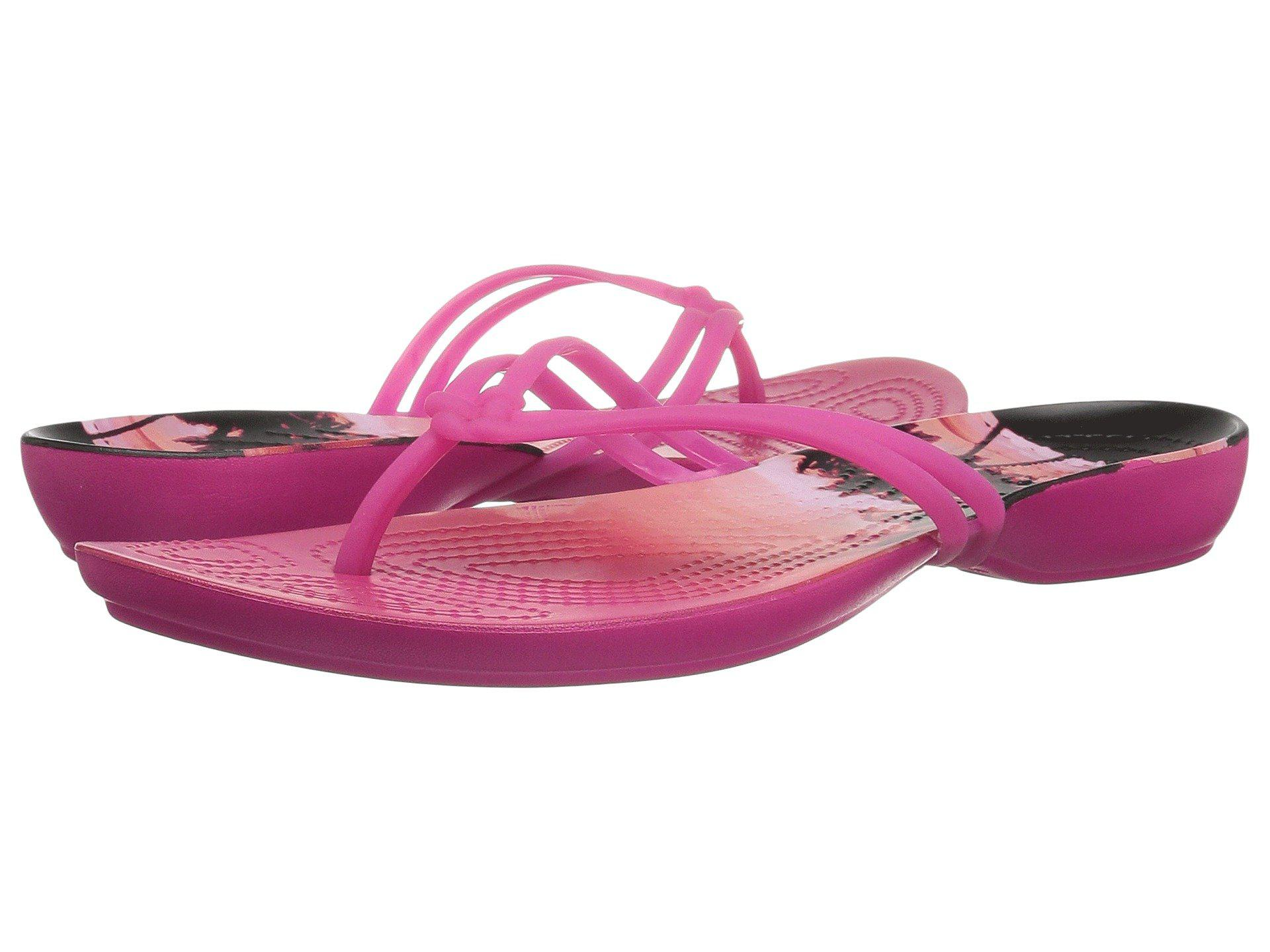 ba33bc2d8 Lyst - Crocs™ Isabella Graphic Flip in Pink - Save 25%