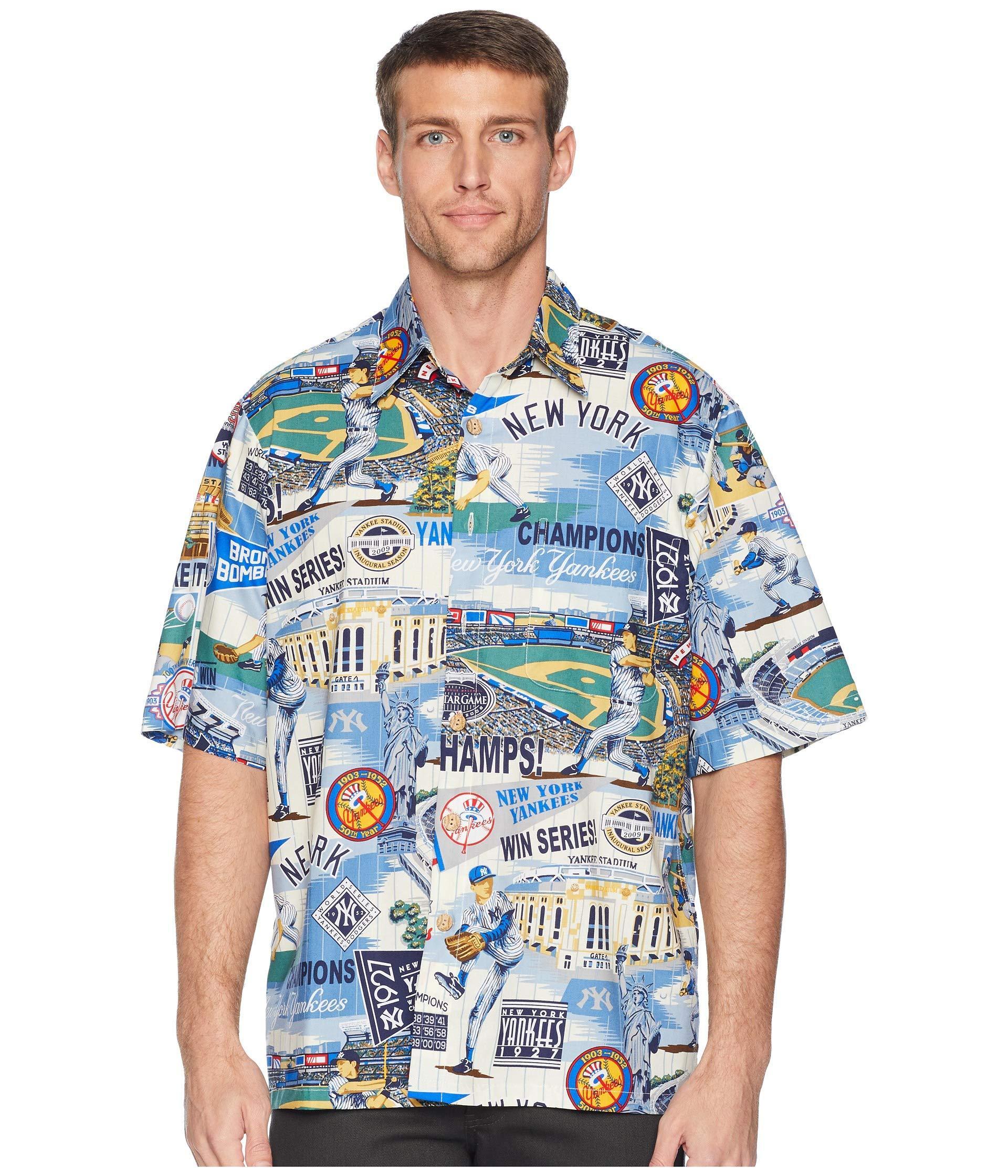 b4eb7954 Reyn Spooner New York Yankees Classic Fit Hawaiian Shirt in Blue for ...