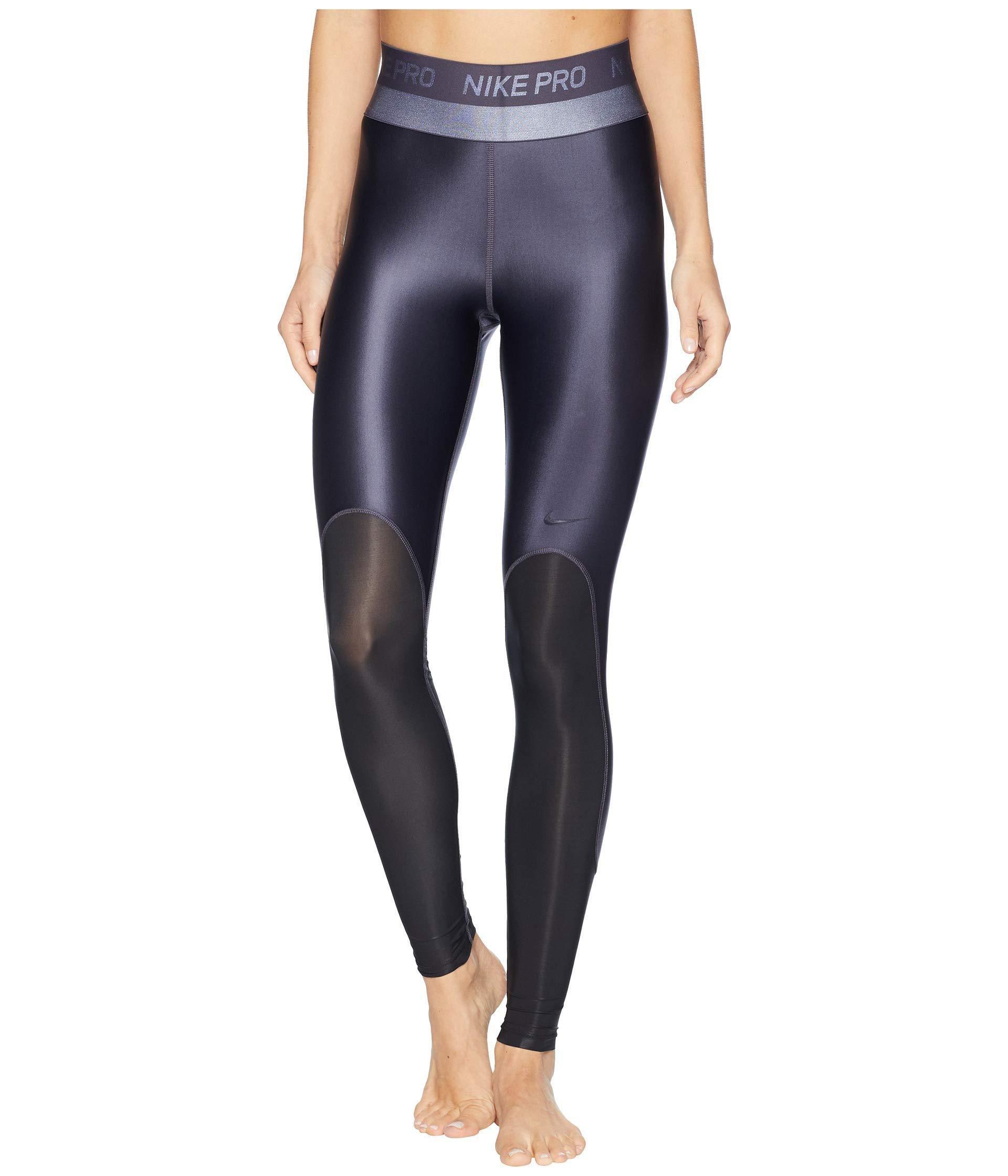 710d8e6dd3 Nike Pro Hypercool Glamour Tights in Black - Lyst