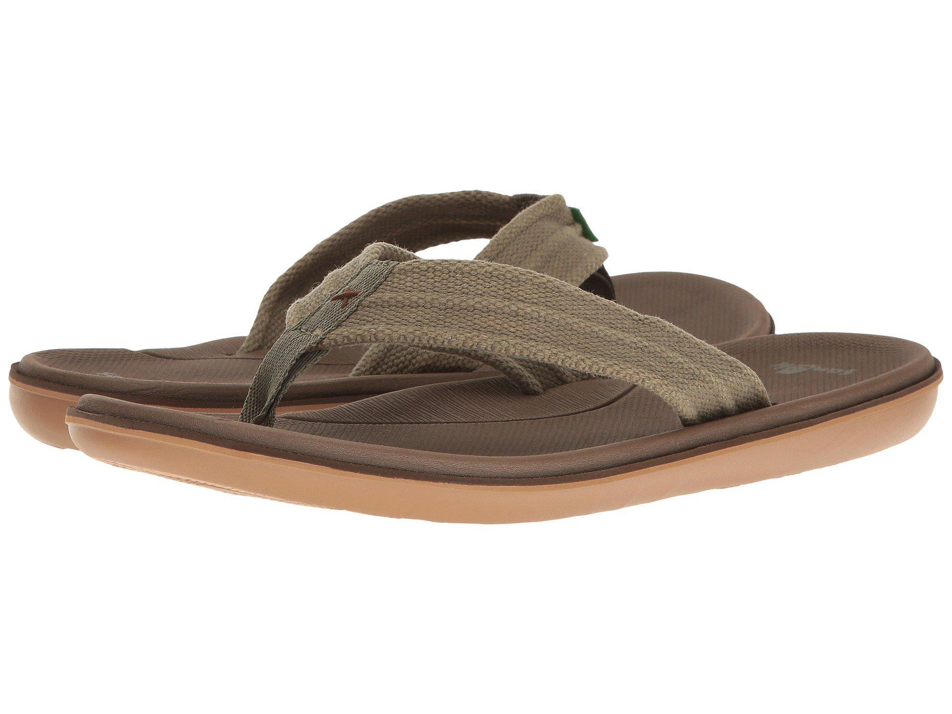 Sanuk. Men's Brown Planer Webbing