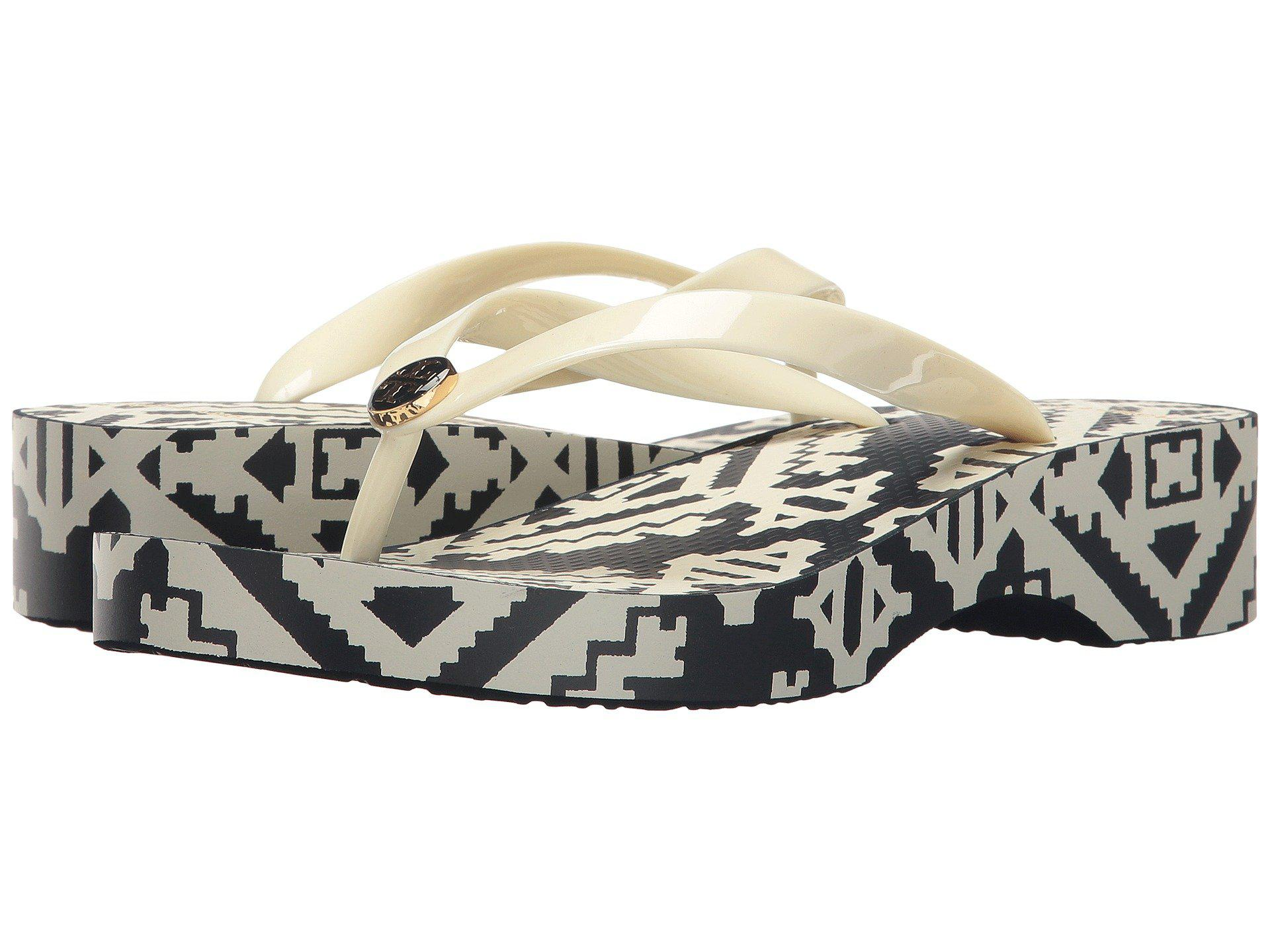 5252c9f1b7b228 Tory Burch - Multicolor Wedge Flip-flop - Lyst. View fullscreen