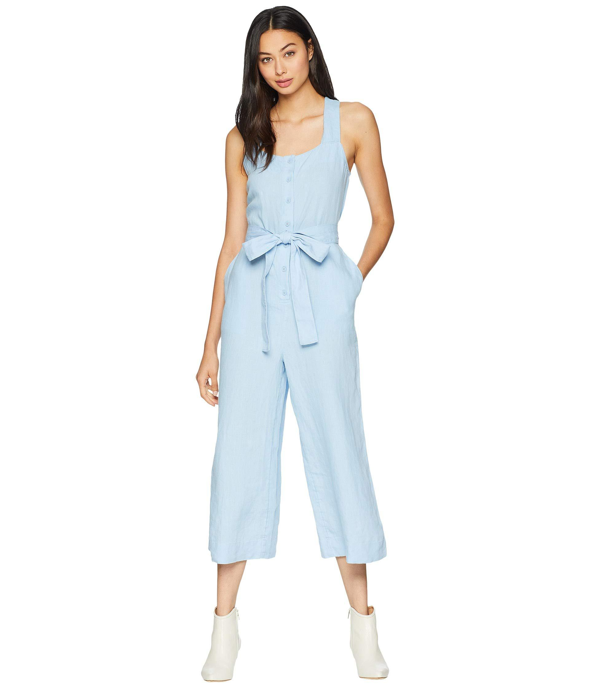 ea461745388 Lyst - Juicy Couture Washed Linen Jumpsuit in Blue