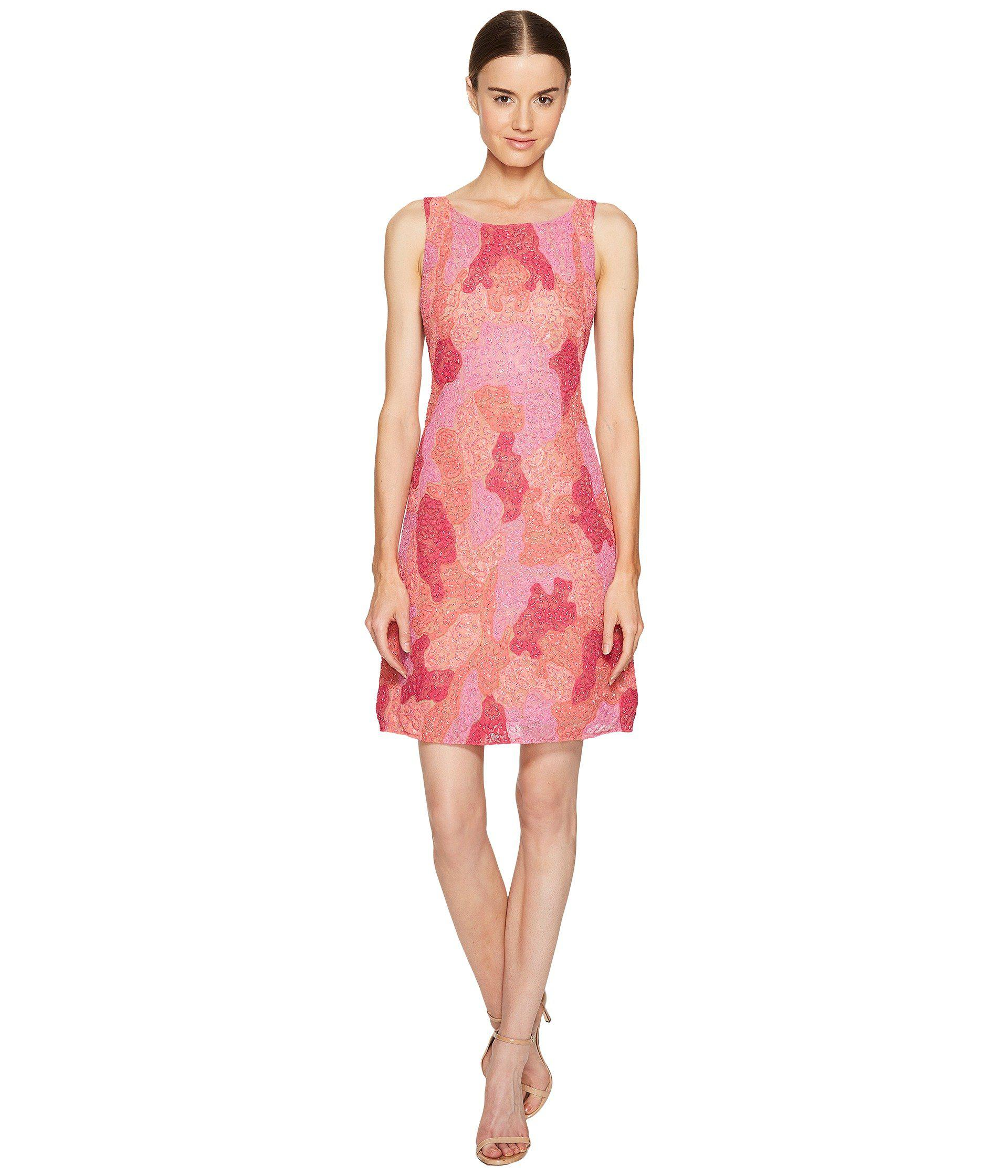 cccd45a80a7 Marchesa notte All Over Embroidered Cocktail Dress in Pink - Save 50 ...
