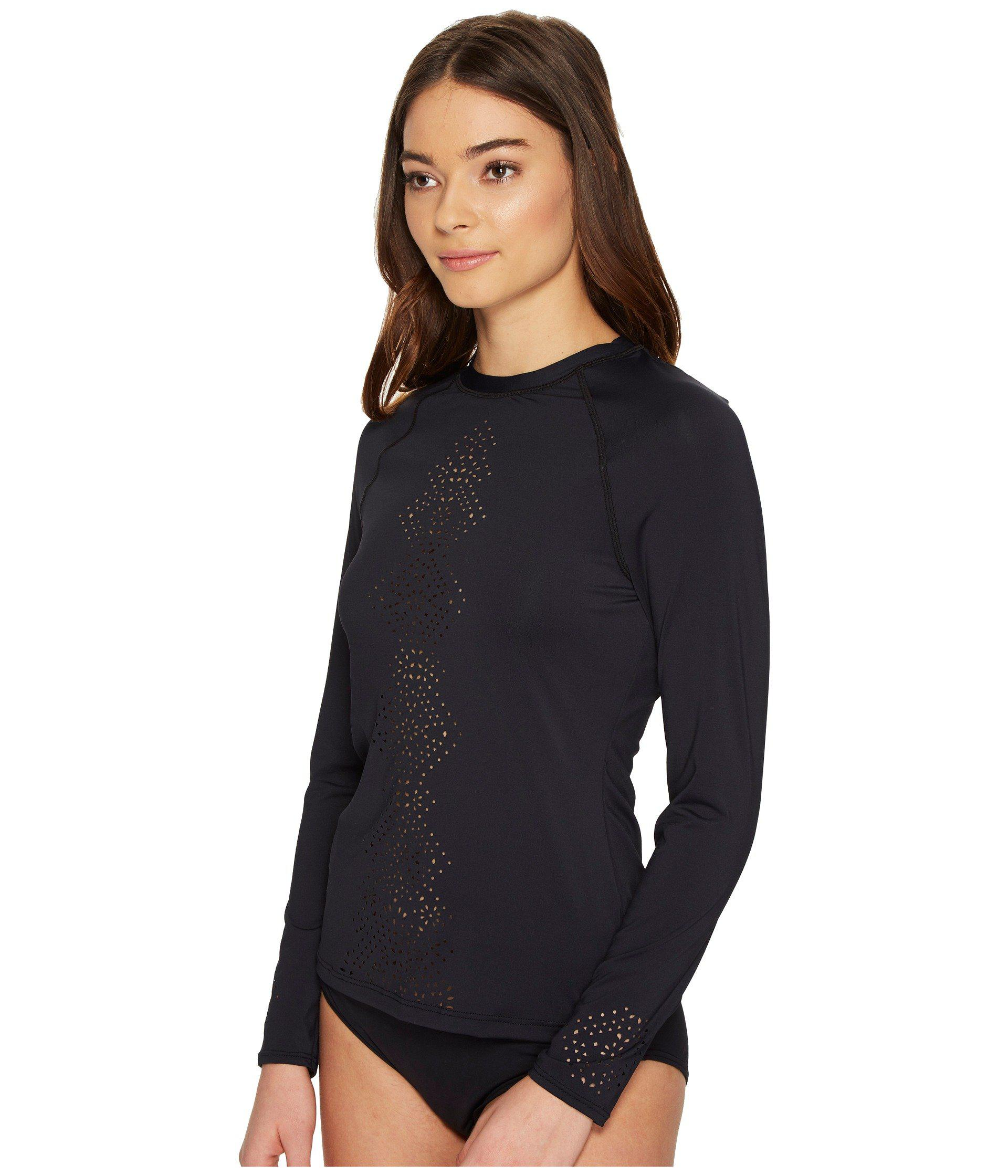 ec18af44a89f6 Lyst - Seafolly Spice Temple Long Sleeve Sunvest in Black - Save 36%