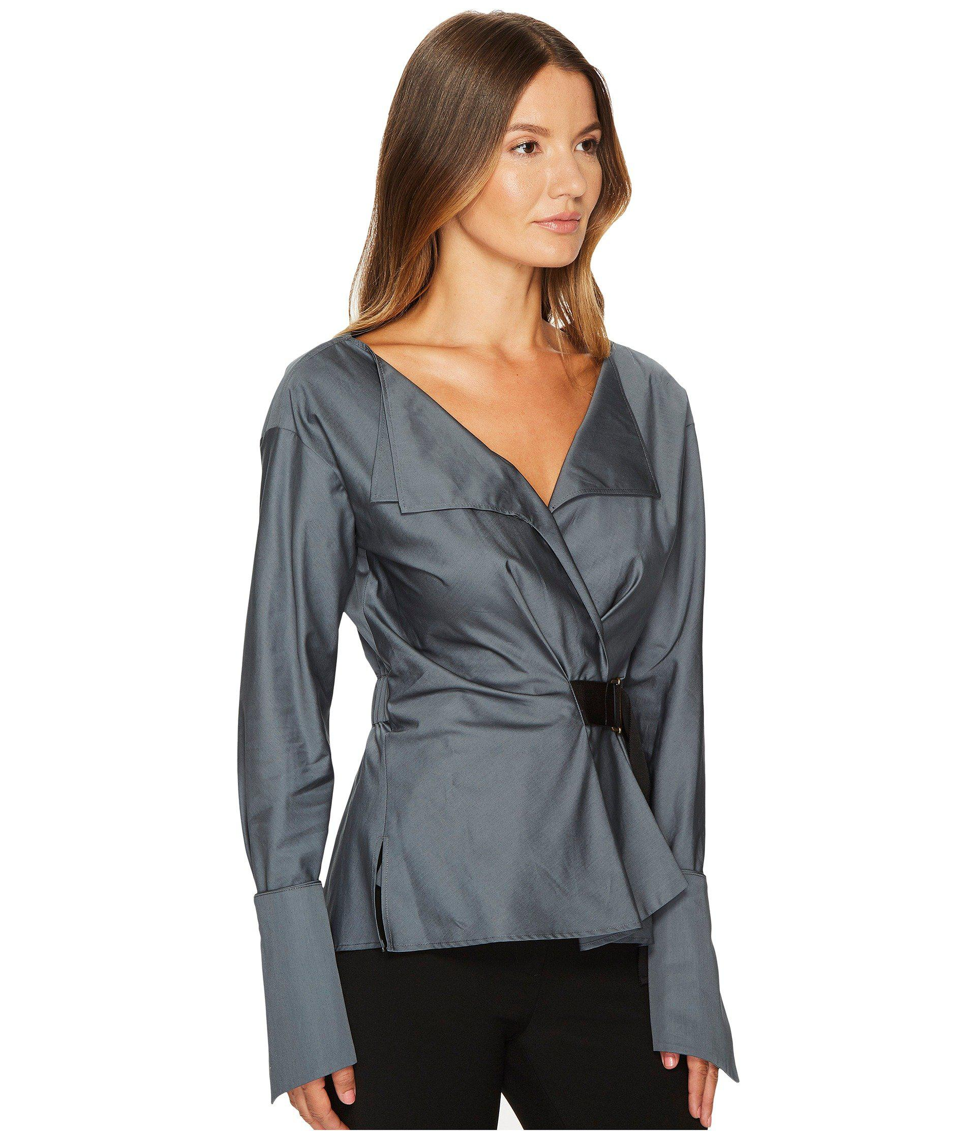 b52f757a9c Satin Deep V Neck Blouse - Joe Maloy