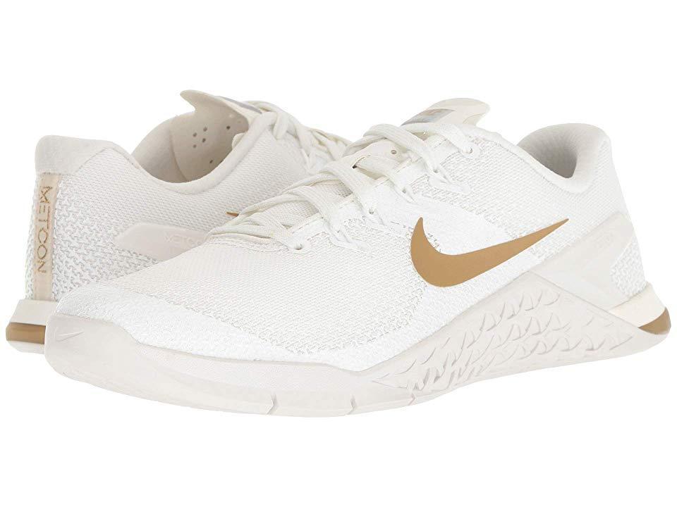 8d66a75e20319 Nike. Women's White Metcon 4 Champagne (sail/metallic Gold/platinum Tint)  ...