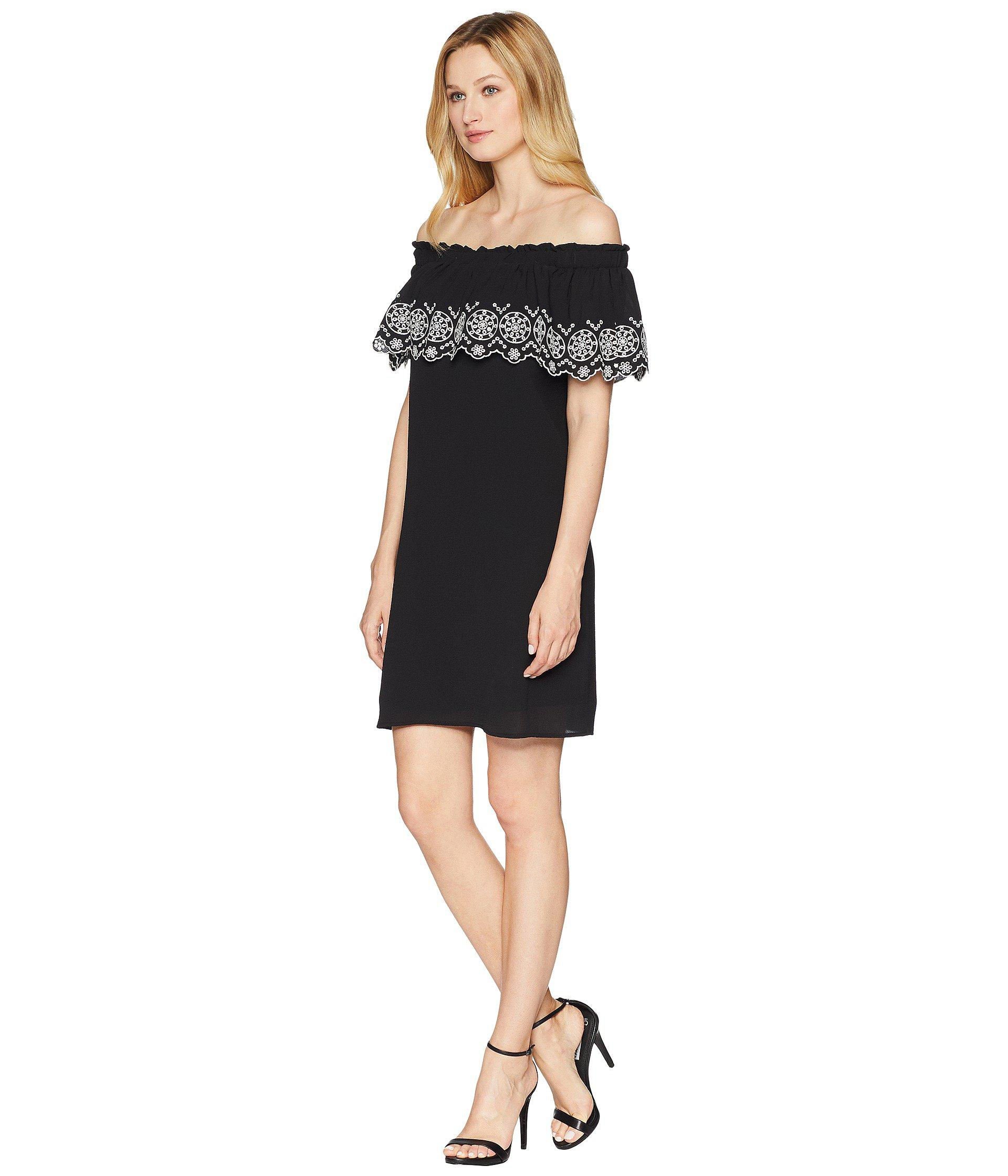 ab40f4d2aca Lyst - Cece Tenley - Off The Shoulder Embroidered Dress in Black - Save 70%
