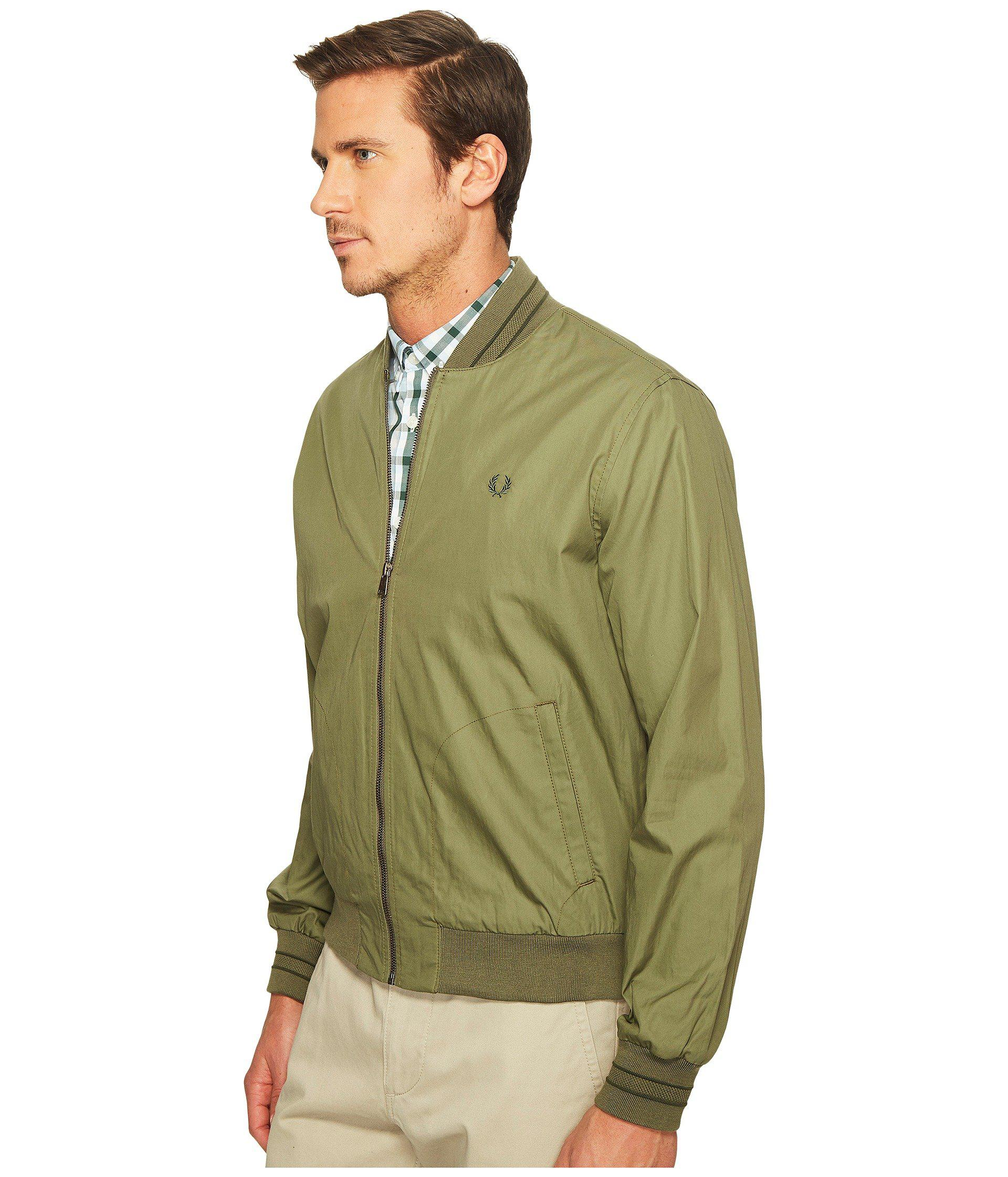 2b8d89337 Lyst - Fred Perry Tramline Bomber Jacket in Green for Men