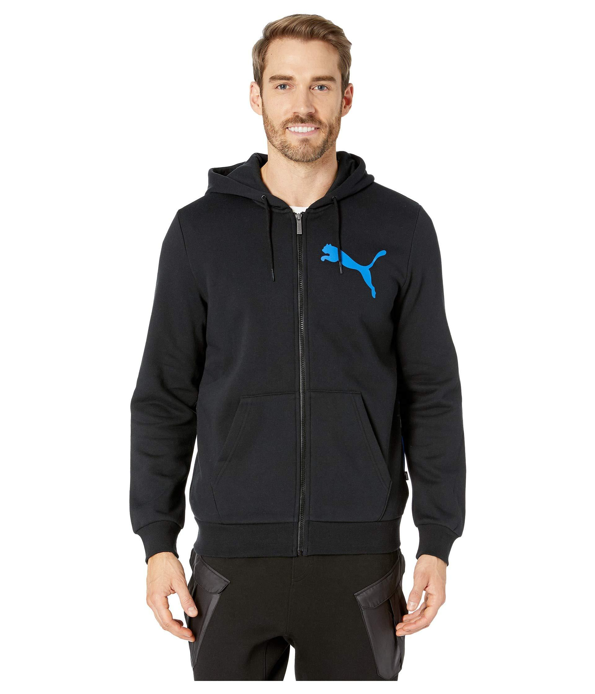 Lyst PUMA Big Logo Full Zip Hoodie in Black for Men