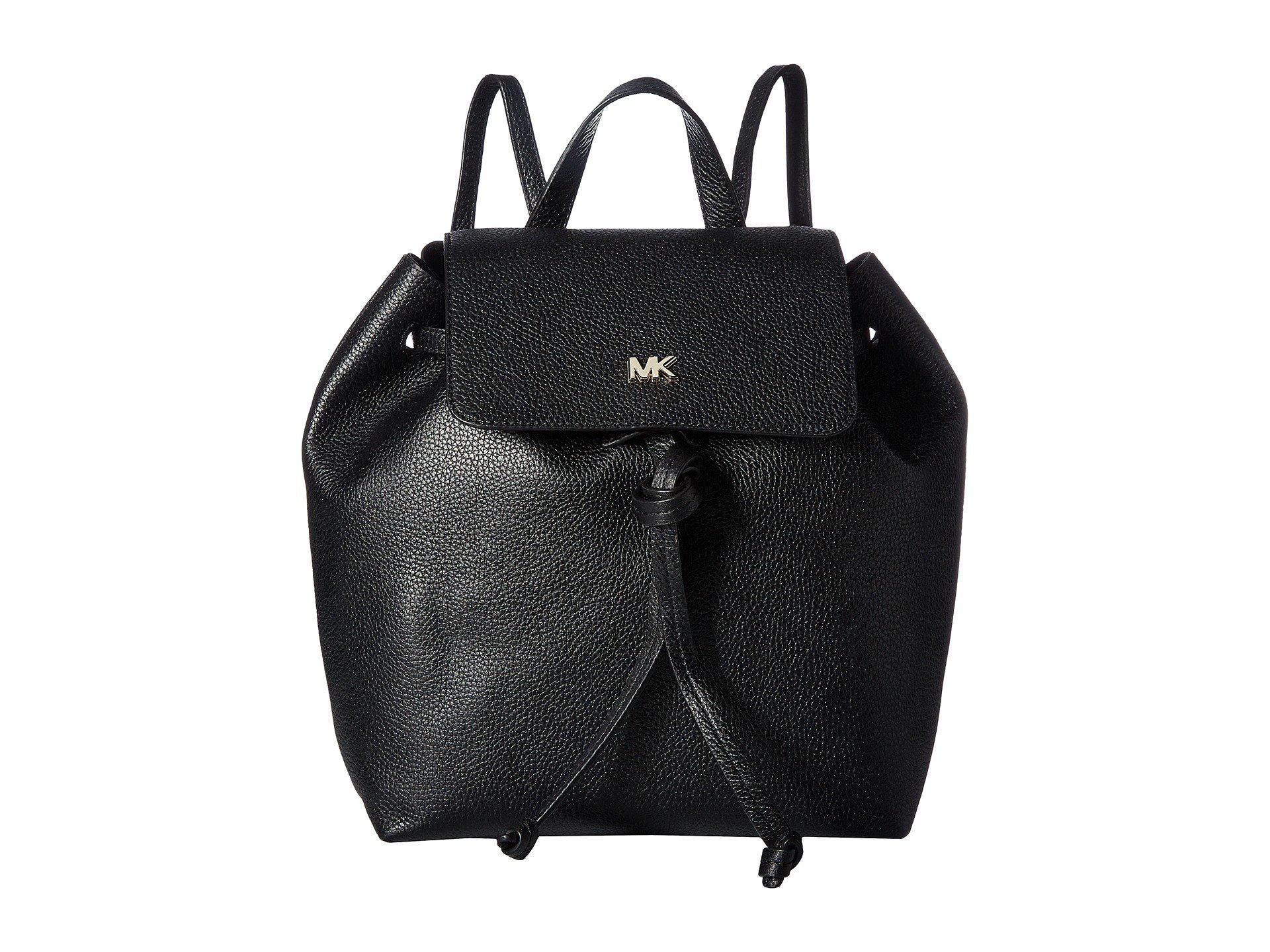 69573cdceb12 Lyst - MICHAEL Michael Kors Junie Medium Flap Backpack in Black ...