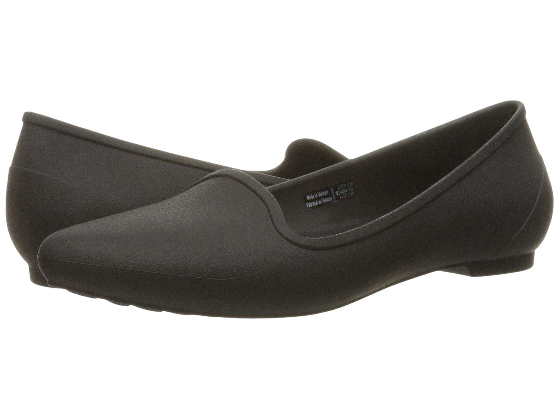 ccbc0e9ae73871 Lyst - Crocs™ Eve Flat in Black