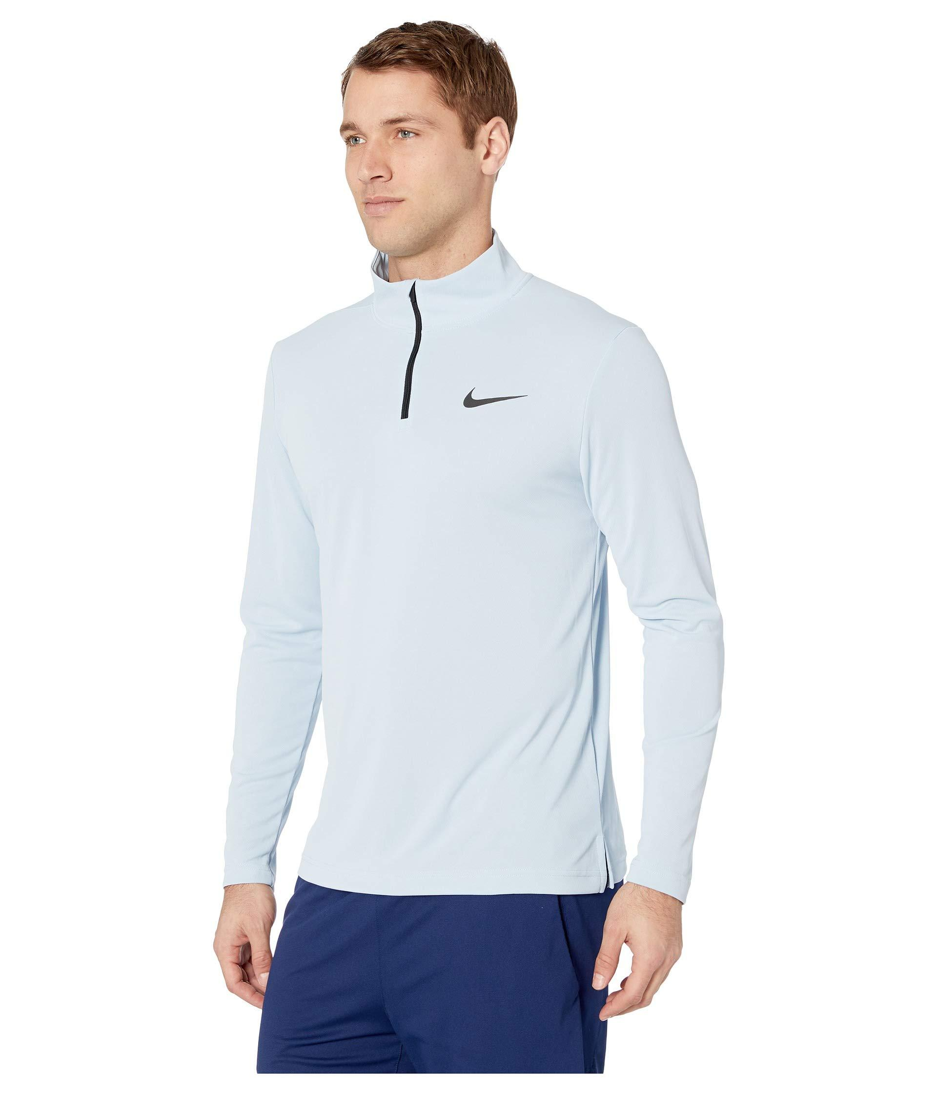 6441c3017f10 Lyst - Nike Superset Top Long Sleeve 1 4 Zip in Blue for Men