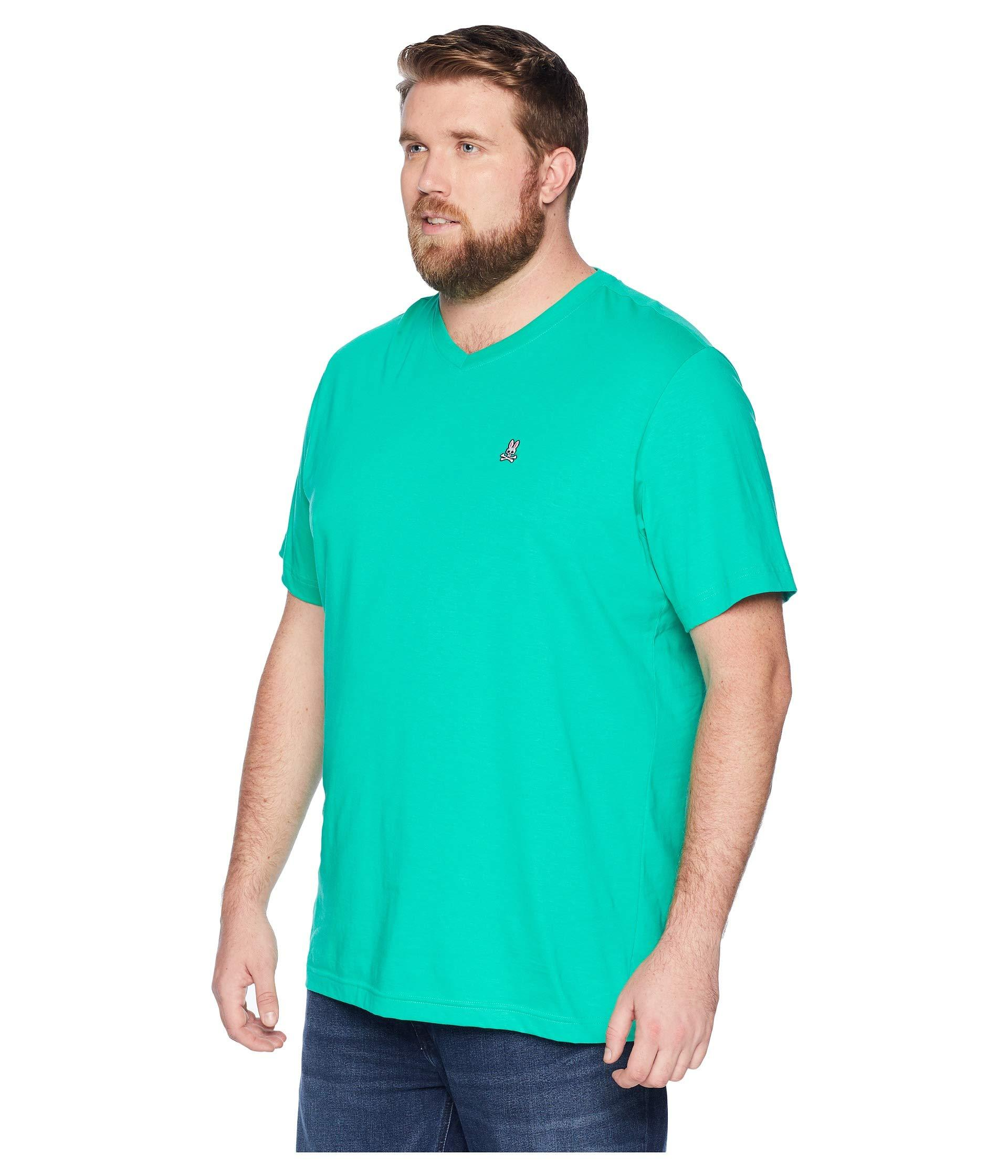 2175342db57 Lyst - Psycho Bunny Big And Tall V-neck T-shirt in Green for Men - Save 9%