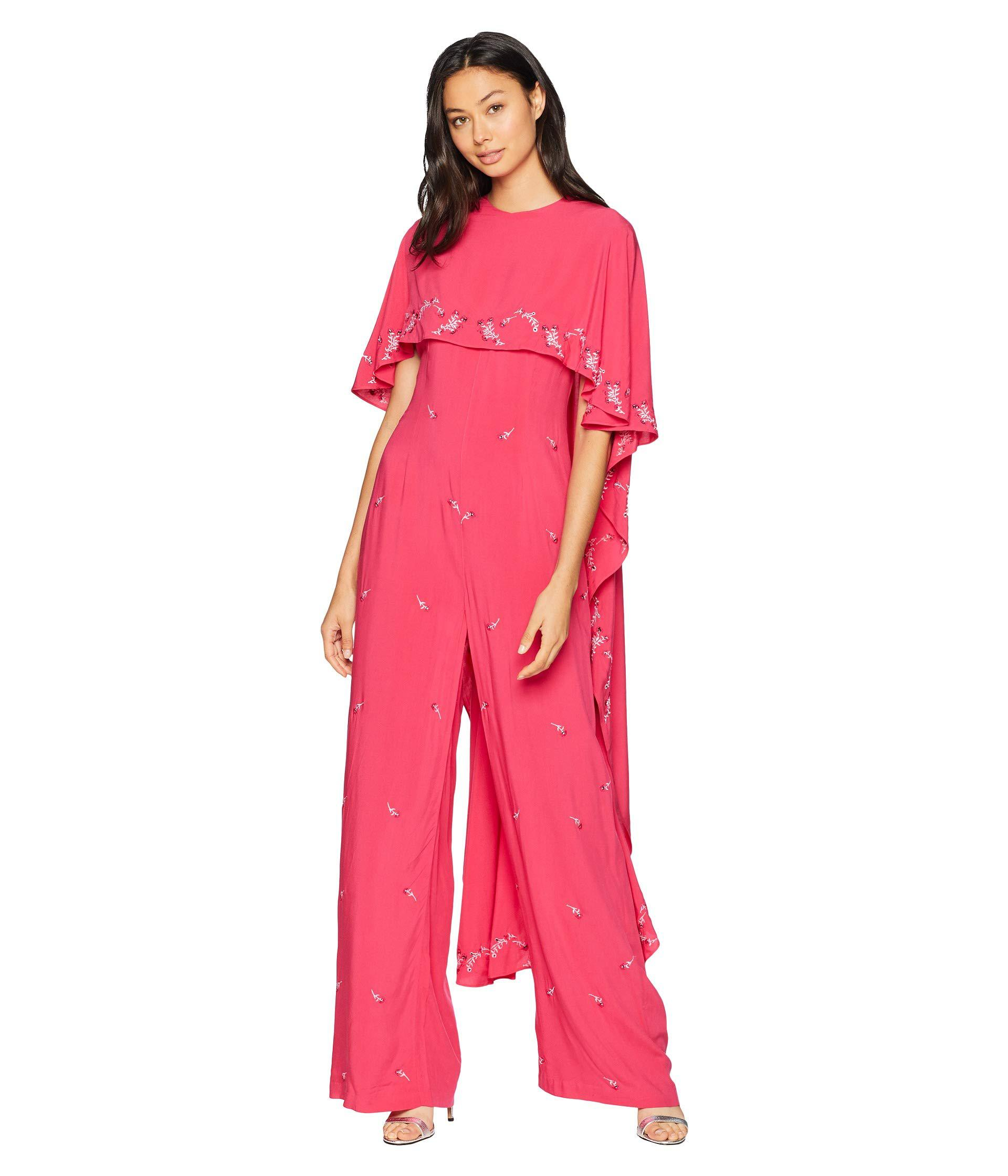 80fb1c1f176b Lyst - Juicy Couture Capelet Jumpsuit in Pink