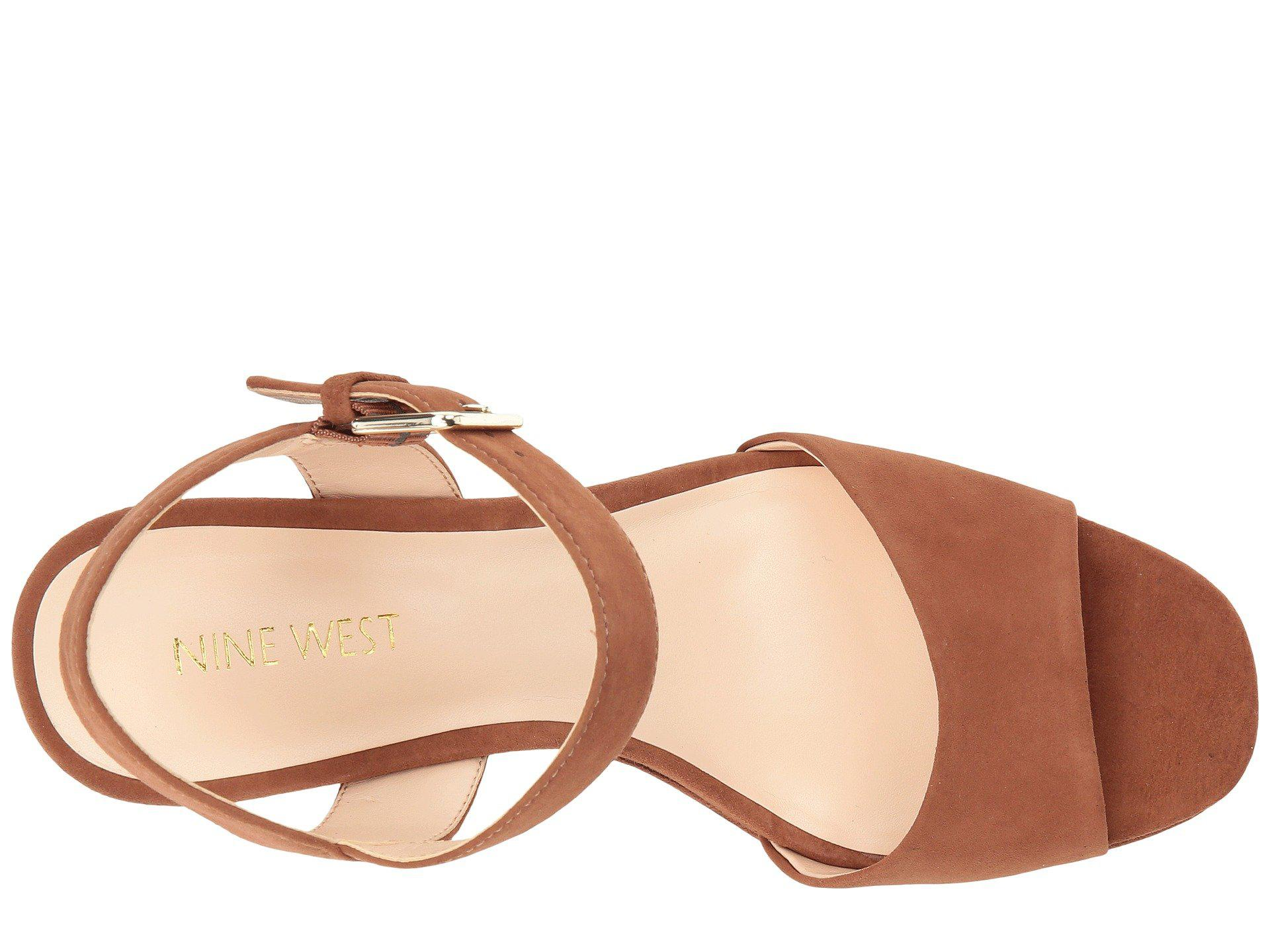 665b8dca003 Nine West - Brown Fallforu Heel Sandal - Lyst. View fullscreen