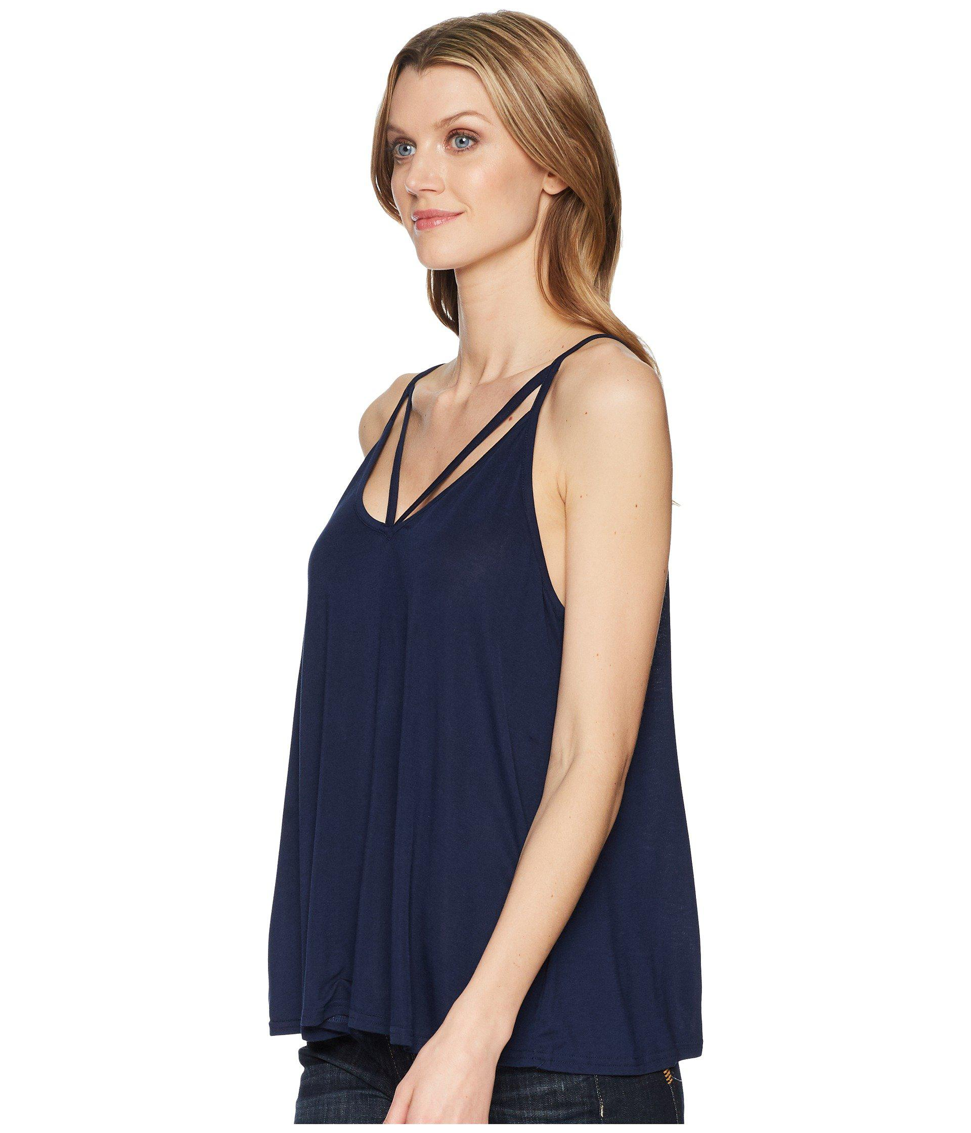 1ff02ccccc4ee Lyst - Stetson 1578 Rayon Knit V-neck Strappy Tank Top in Blue - Save 44%