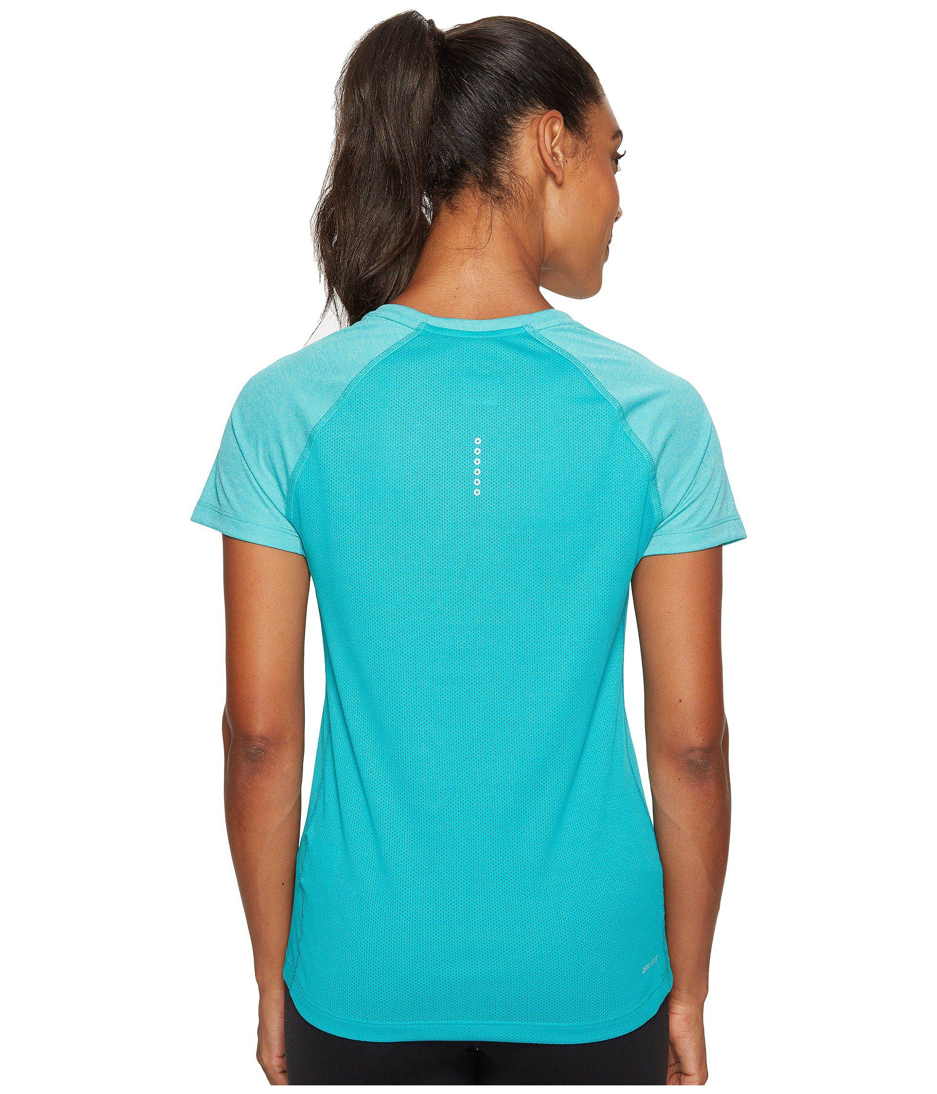 finest selection 407fa 23206 Lyst - Nike Dry Miler Short Sleeve Running Top in Blue