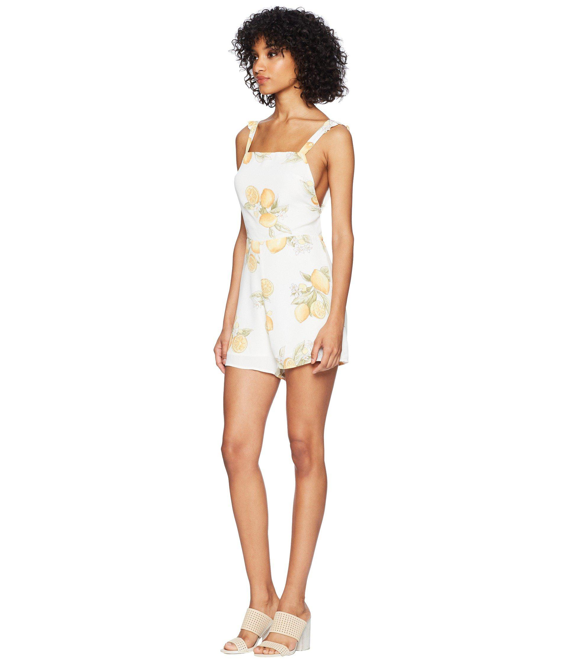 6c9181d6263 Lyst - For Love   Lemons Lemonade Romper in Yellow - Save 12%