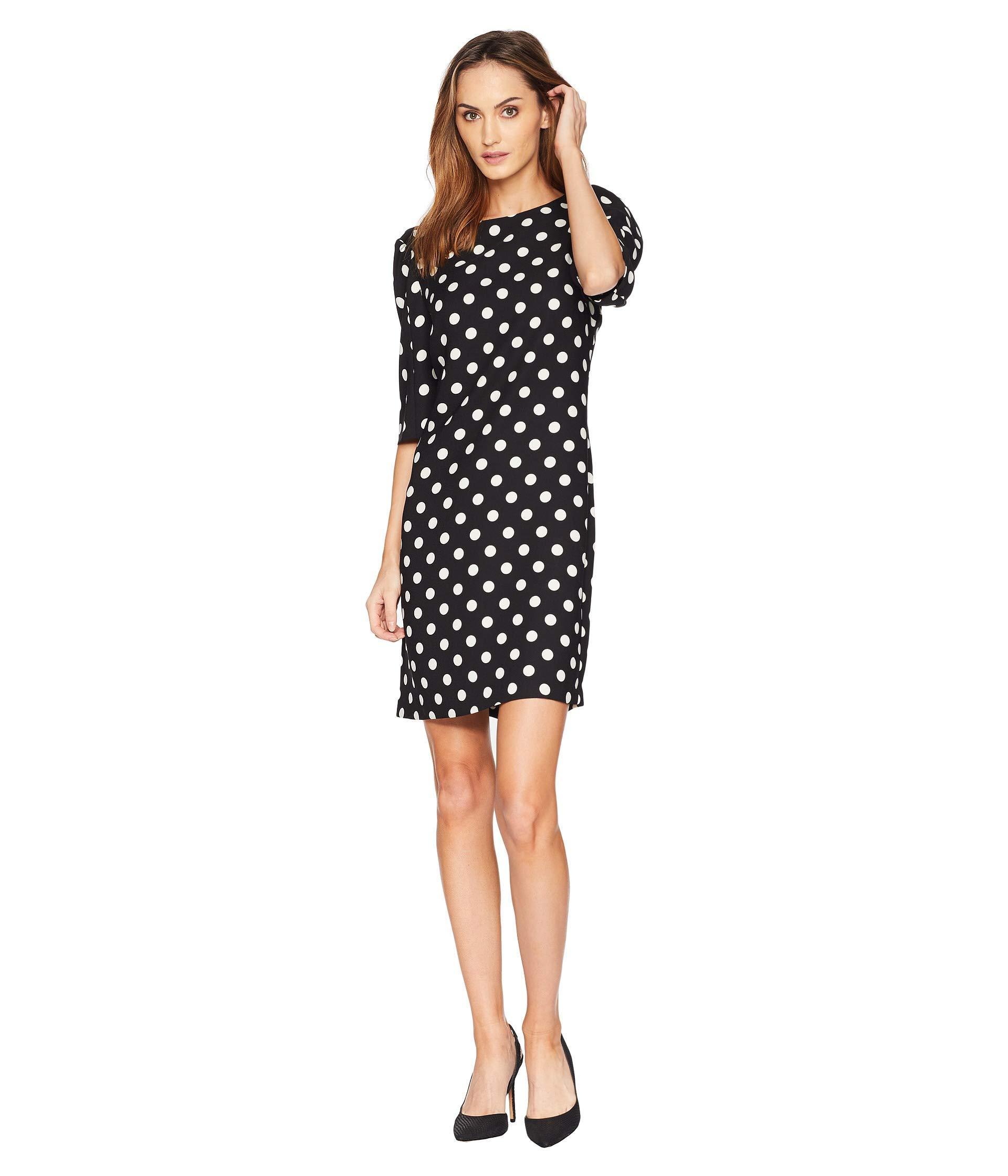 5696f5b0b81e Vince Camuto. Women's Black Puff Sleeve Spotlight Melody Shift Dress