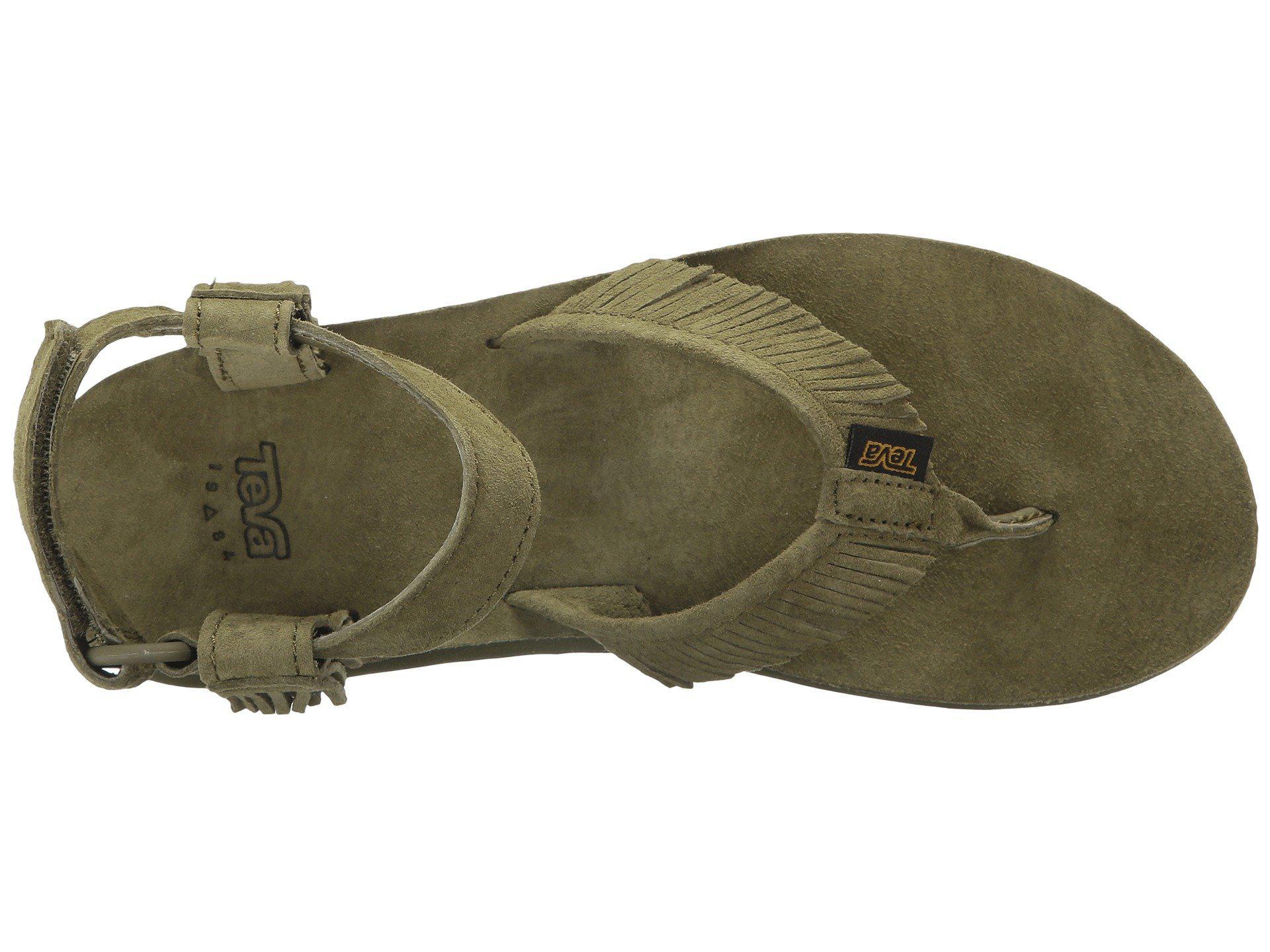 7c27a8d628b0 Teva - Green Original Sandal Leather Fringe - Lyst. View fullscreen
