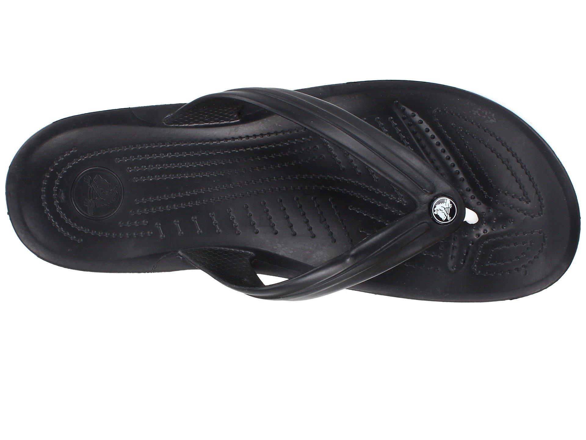 4a173f4d25517d Crocs™ - Black Crocband Flip - Lyst. View fullscreen