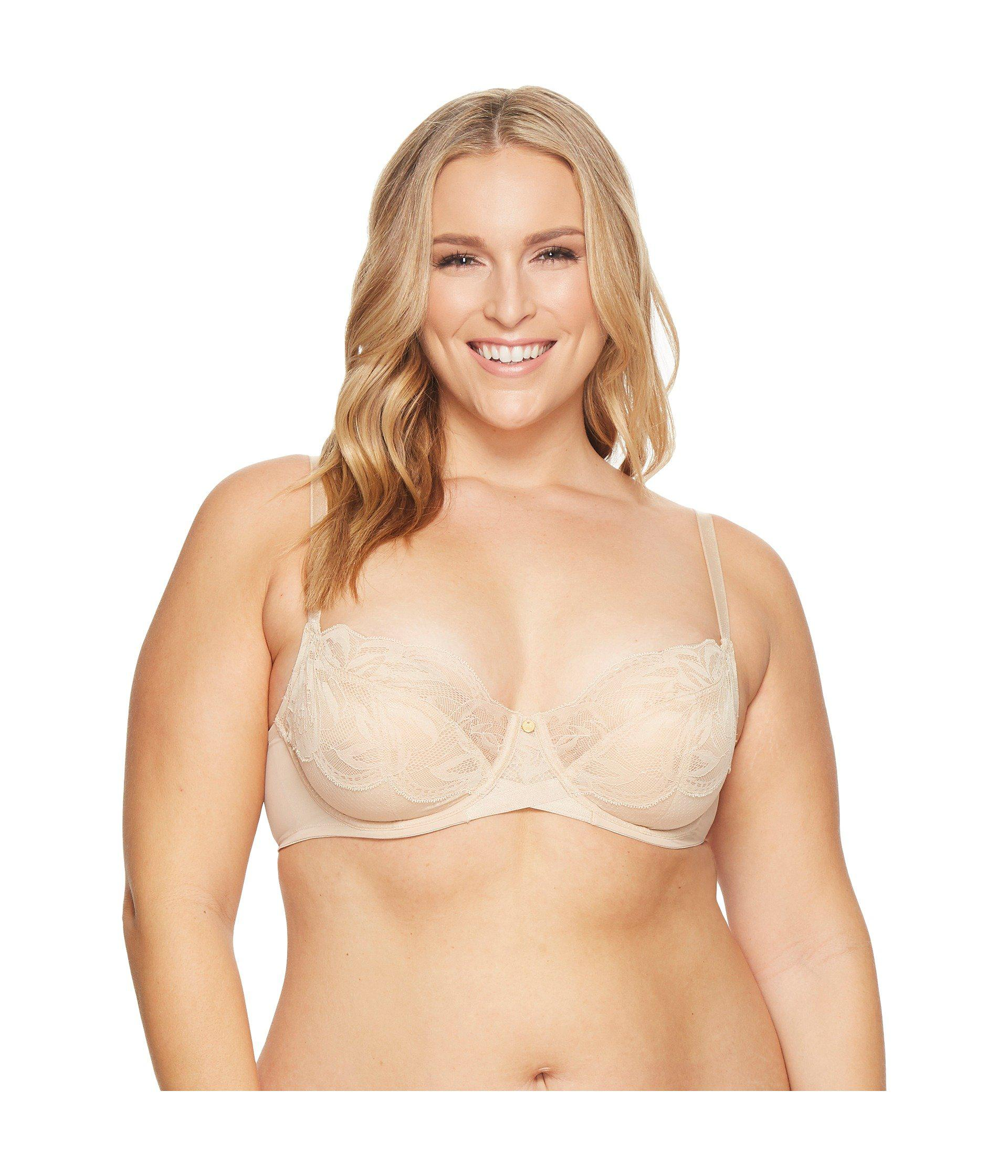 32a8c1f100489 Lyst - Natori Bouquet Full Figure Underwire Bra in Natural - Save 52%