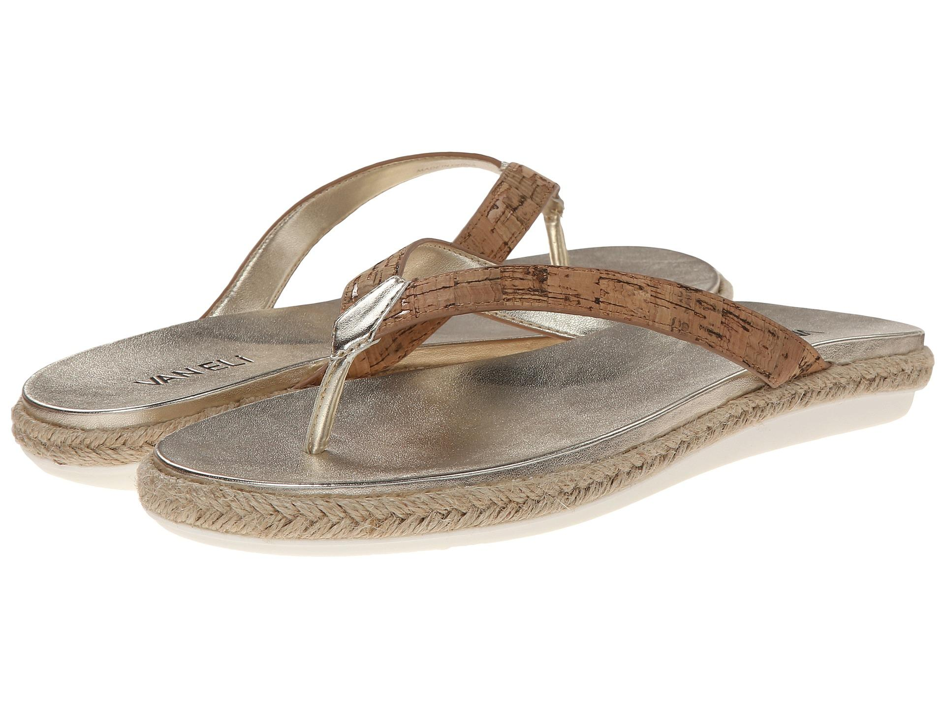 Womens Sandals Vaneli Bryce Natural Cork