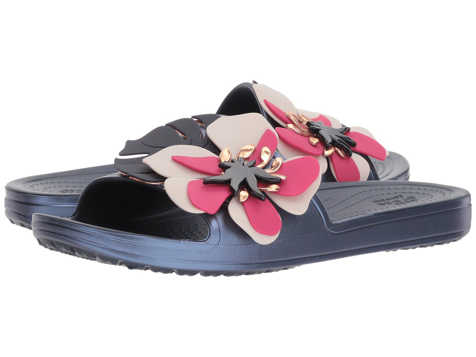 c340bec0a6f Lyst - Crocs™ Sloane Botanical Floral Slide in Blue - Save 45%