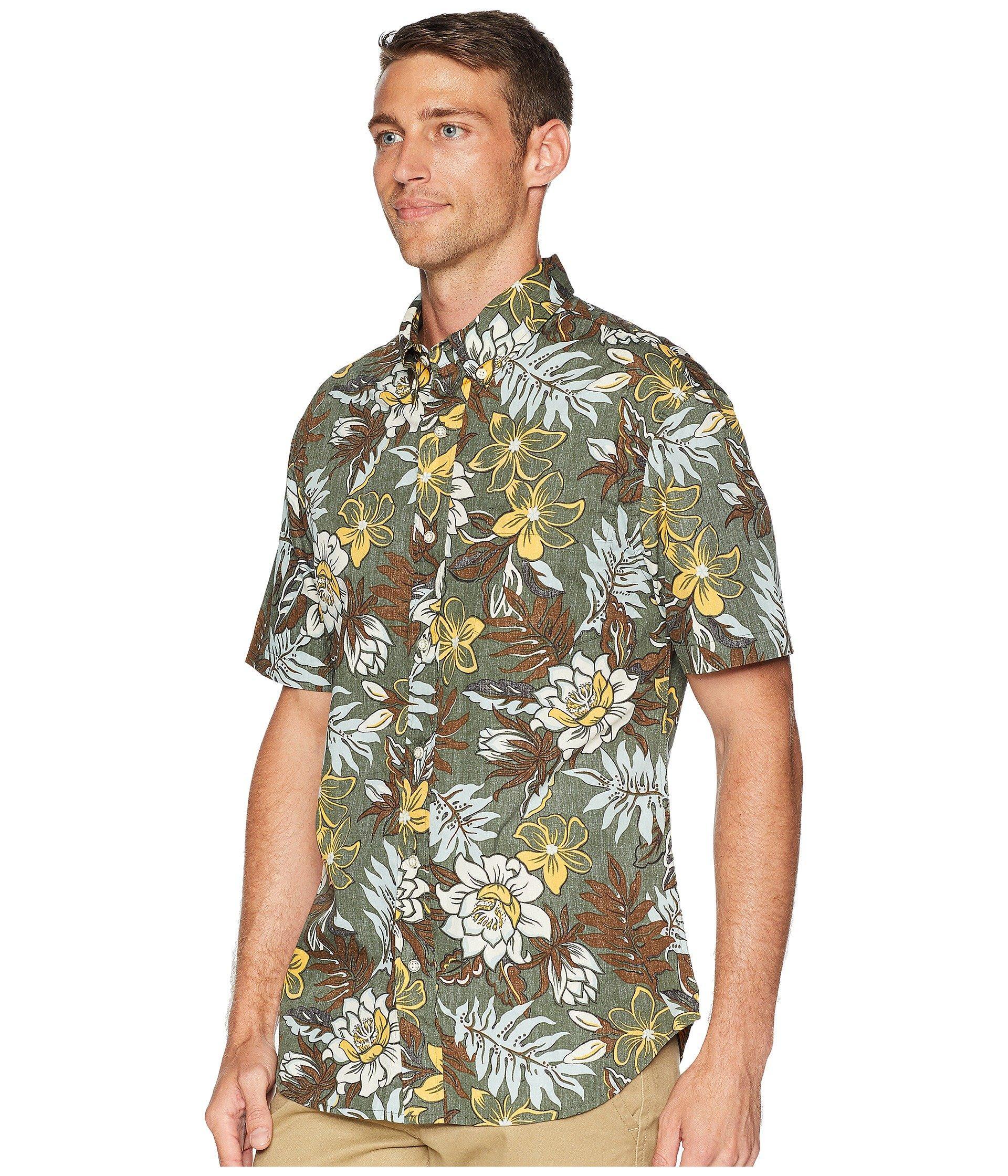 94716fa5162 Lyst - Reyn Spooner Vintage Hawaiian Floral Tailored Aloha Shirt in Green  for Men - Save 29%