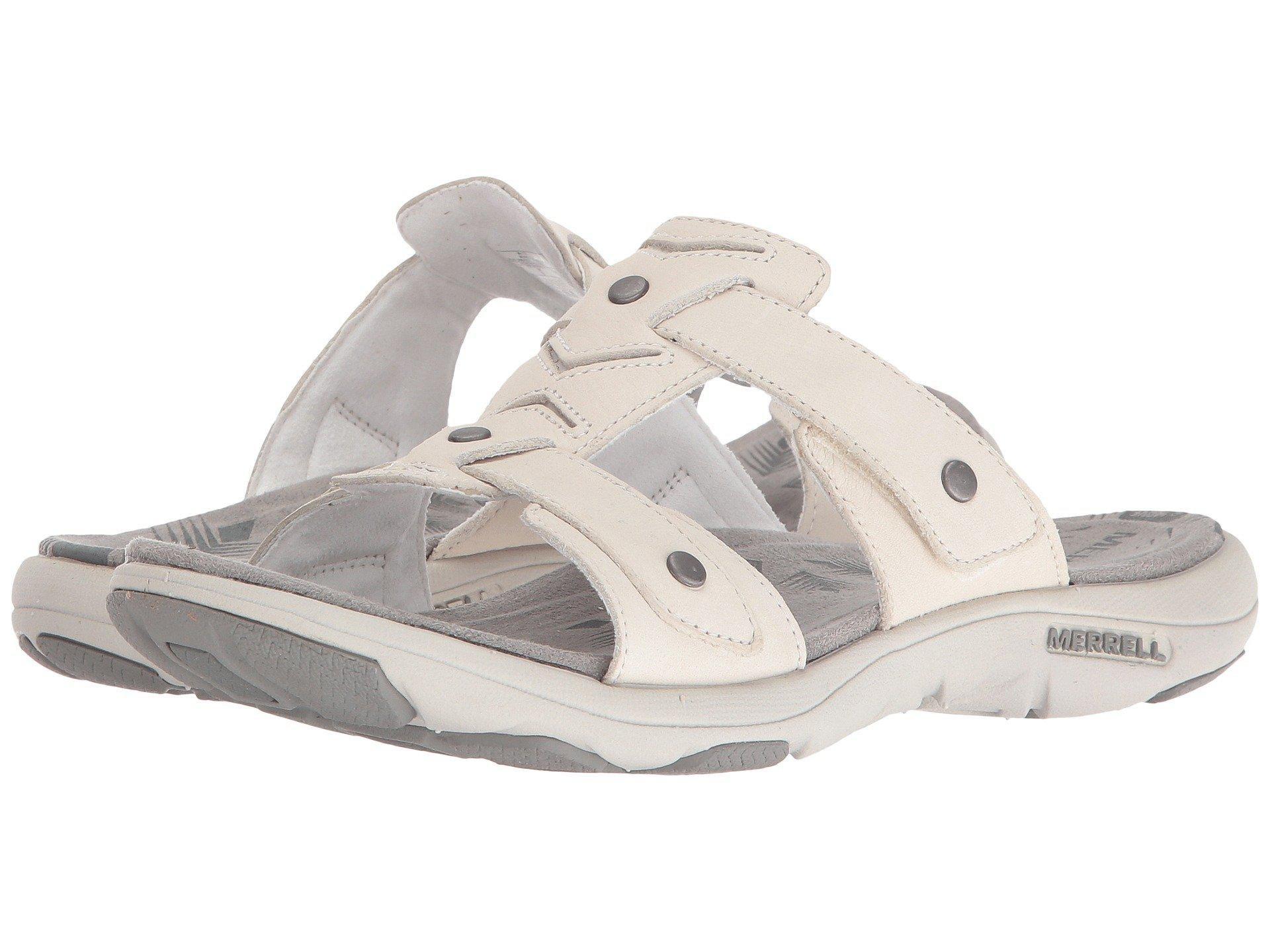 e4616b9c49c1 Lyst - Merrell Adhera Slide Ii in White