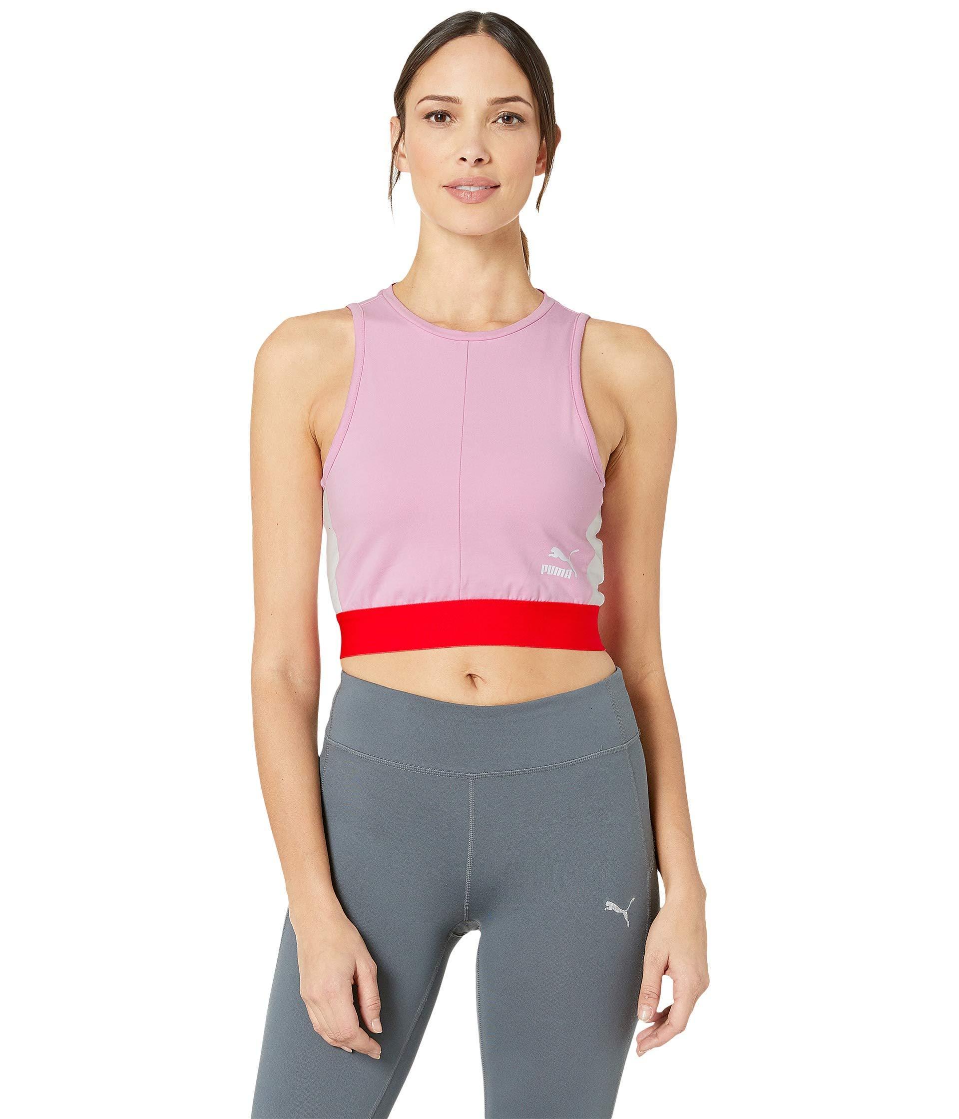 c31828fe6a6d9f PUMA - Pink Xtg Women s Crop Top - Lyst. View fullscreen