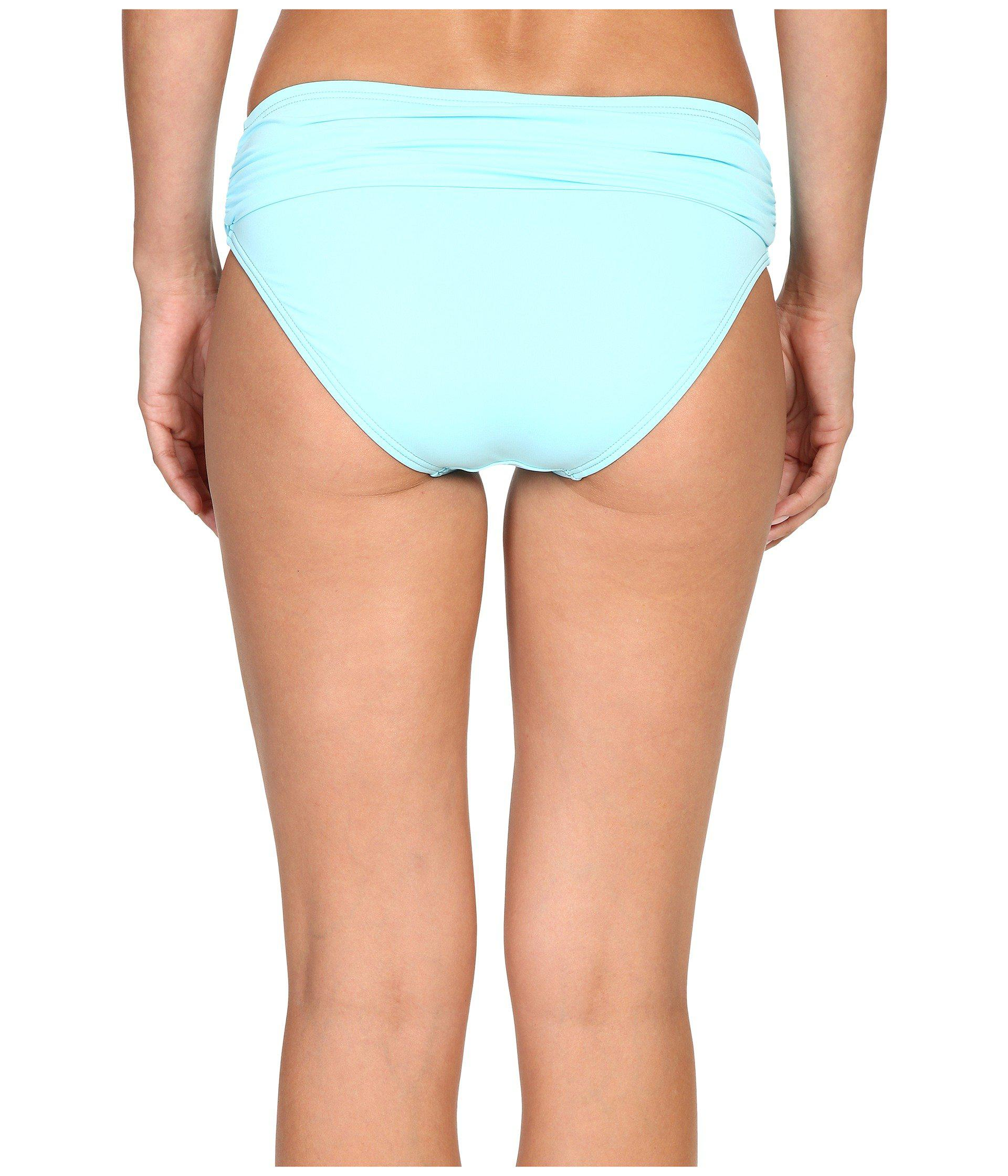 4c71296cae Lyst - Tommy Bahama Pearl High-waist Hipster Bikini Bottom in Blue