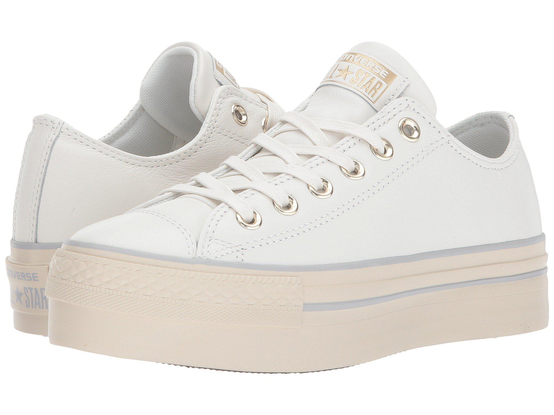7c6a7c842edb Lyst - Converse Chuck Taylor® All Star® Platform Leather Ox in White