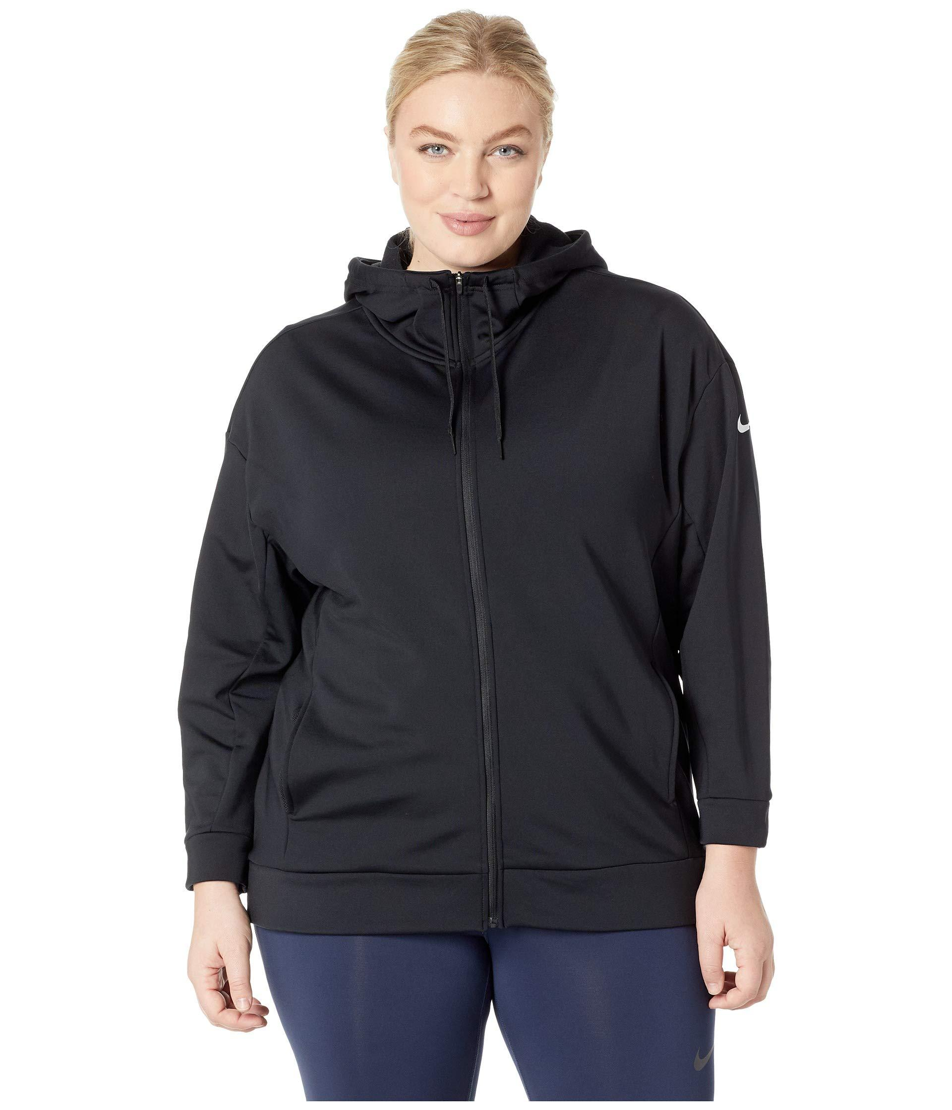 85f428d9e2493 Lyst - Nike Therma All Time Full Zip Hoodie (sizes 1x-3x) in Black ...