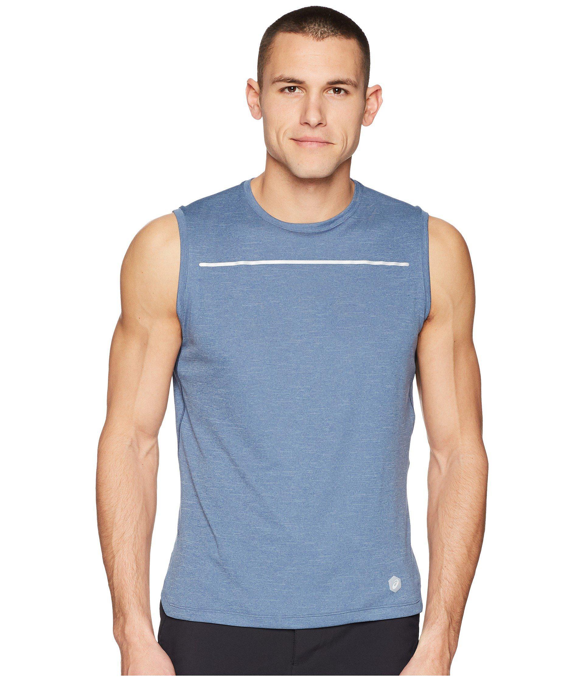 5ef30871d6191 Lyst - Asics Lite-show Sleeveless Shirt in Blue for Men