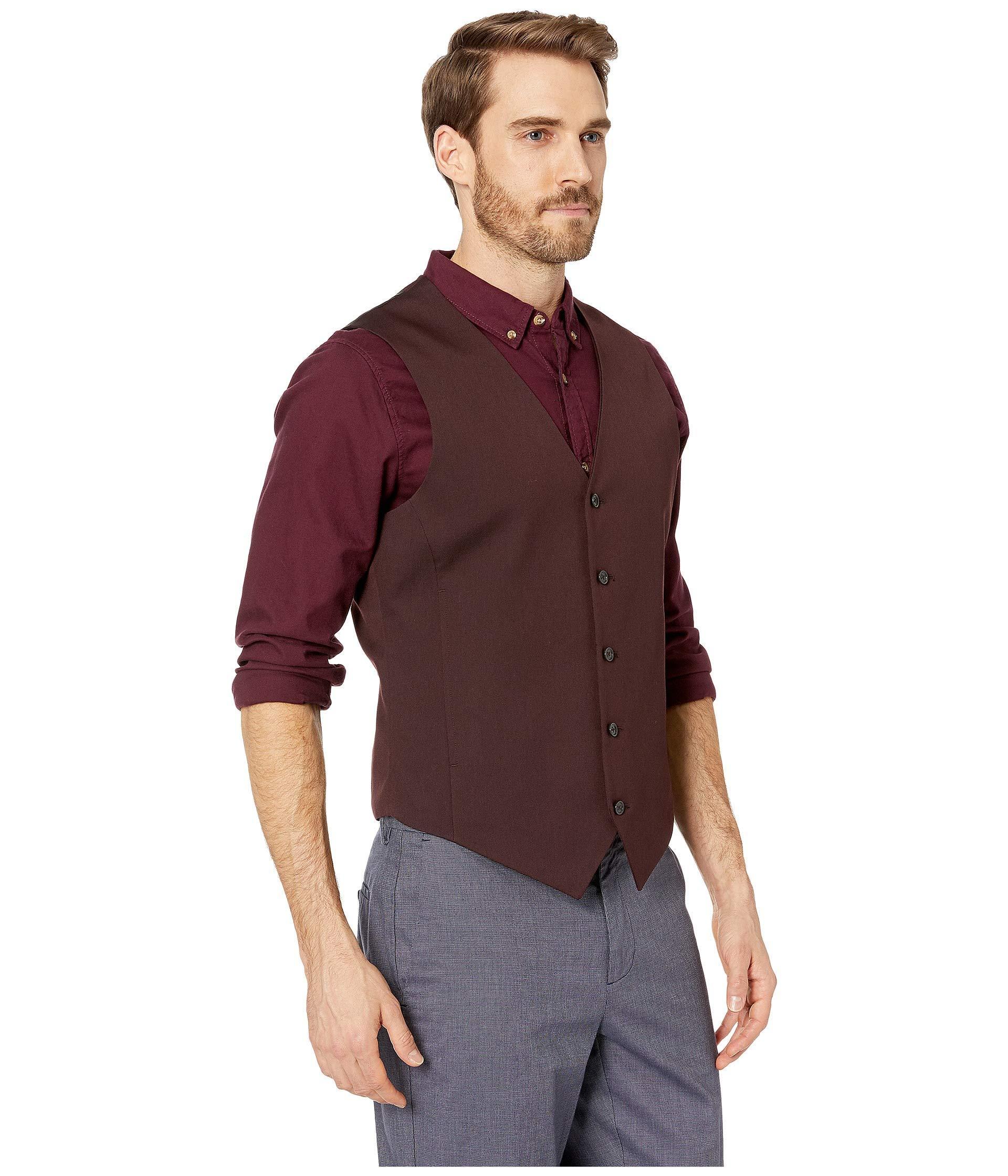 88a6c9d153 Perry Ellis - Multicolor Slim Fit Stretch Twill Suit Vest for Men - Lyst.  View fullscreen