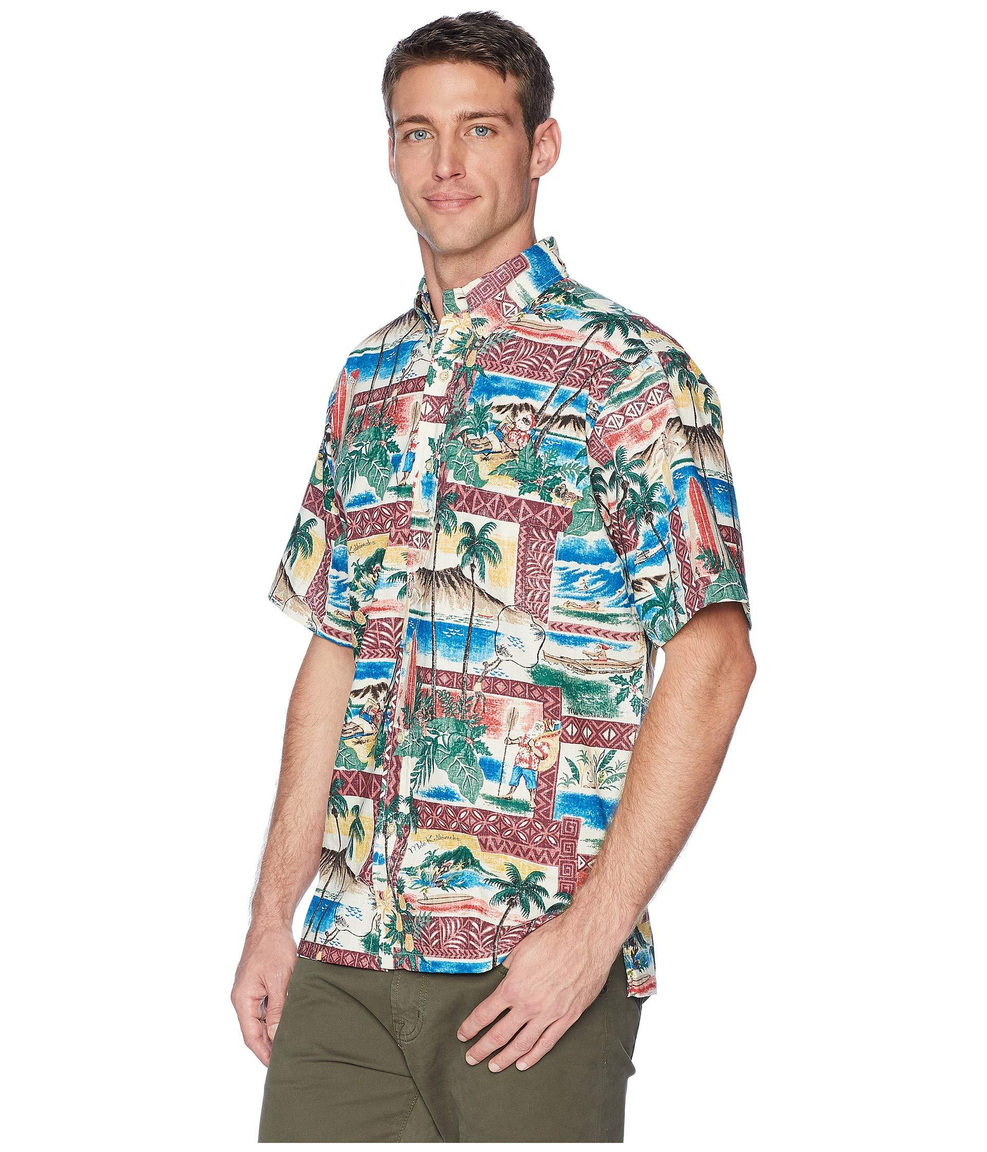 8425fcf4b Reyn Spooner Hawaiian Christmas Classic Fit Shirt in Blue for Men - Lyst