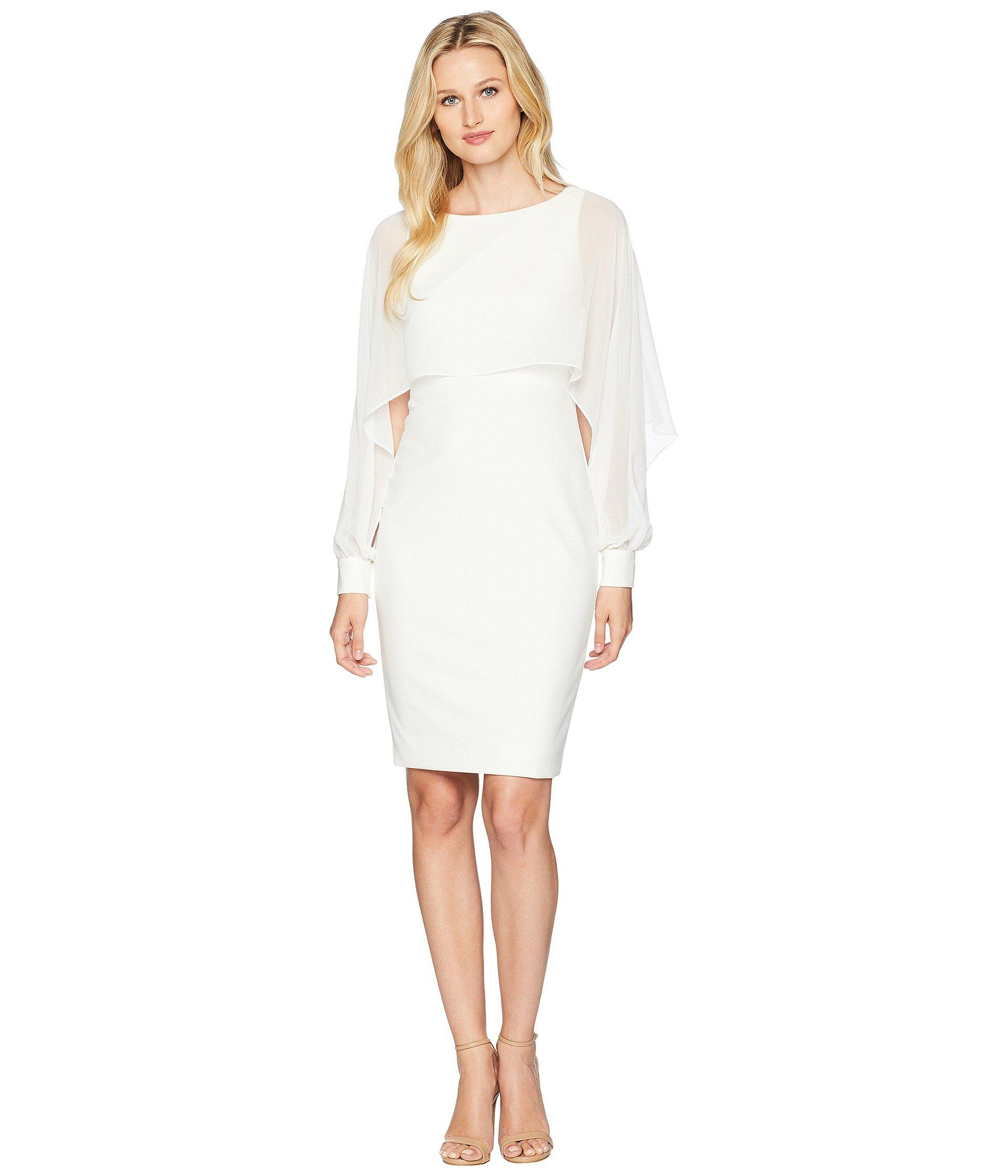 c727e557726d8 Lyst - Lauren by Ralph Lauren Dali Day Dress in White - Save 37%