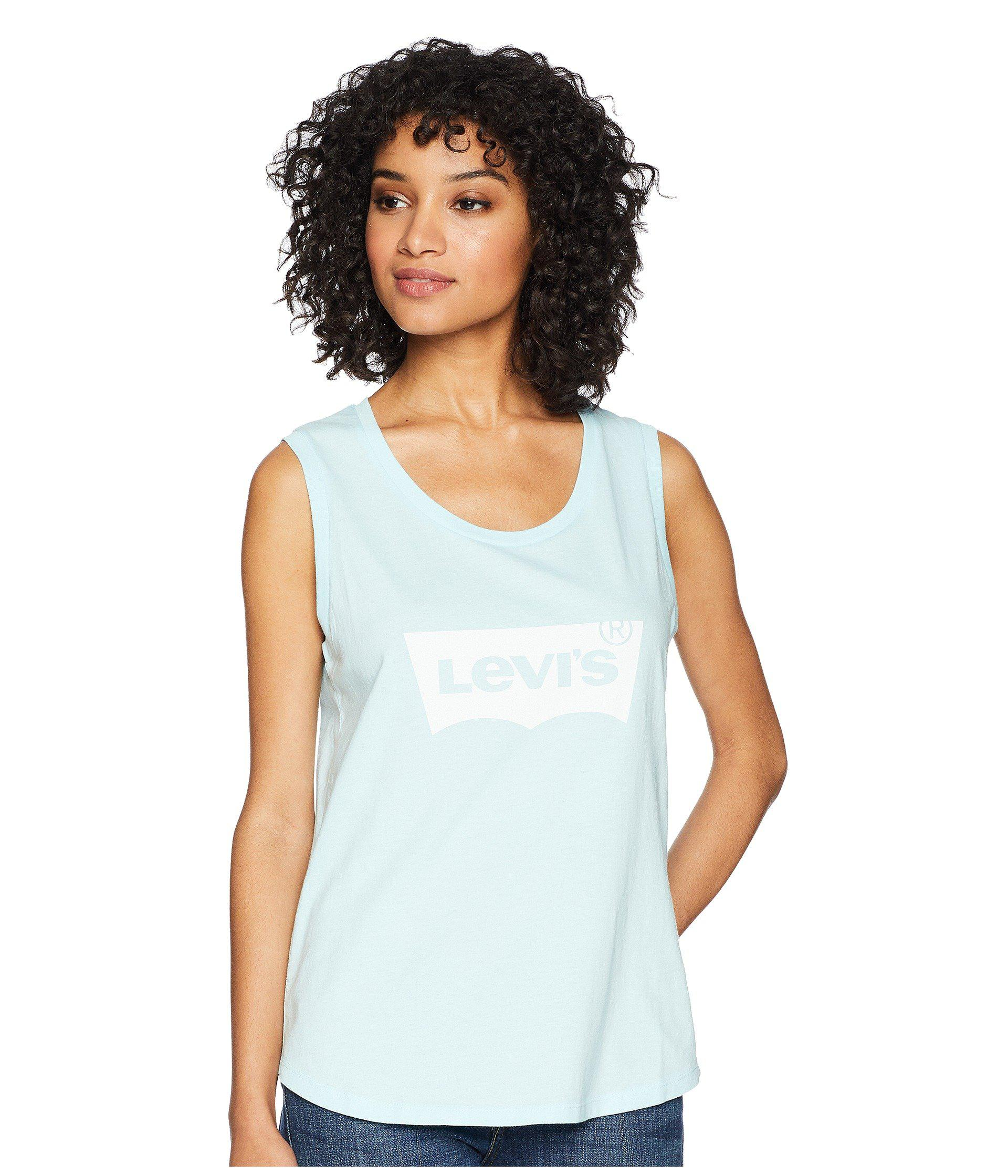 902641ed8f6f18 Lyst - Levi s The Muscle Tank Top in Blue - Save 50%