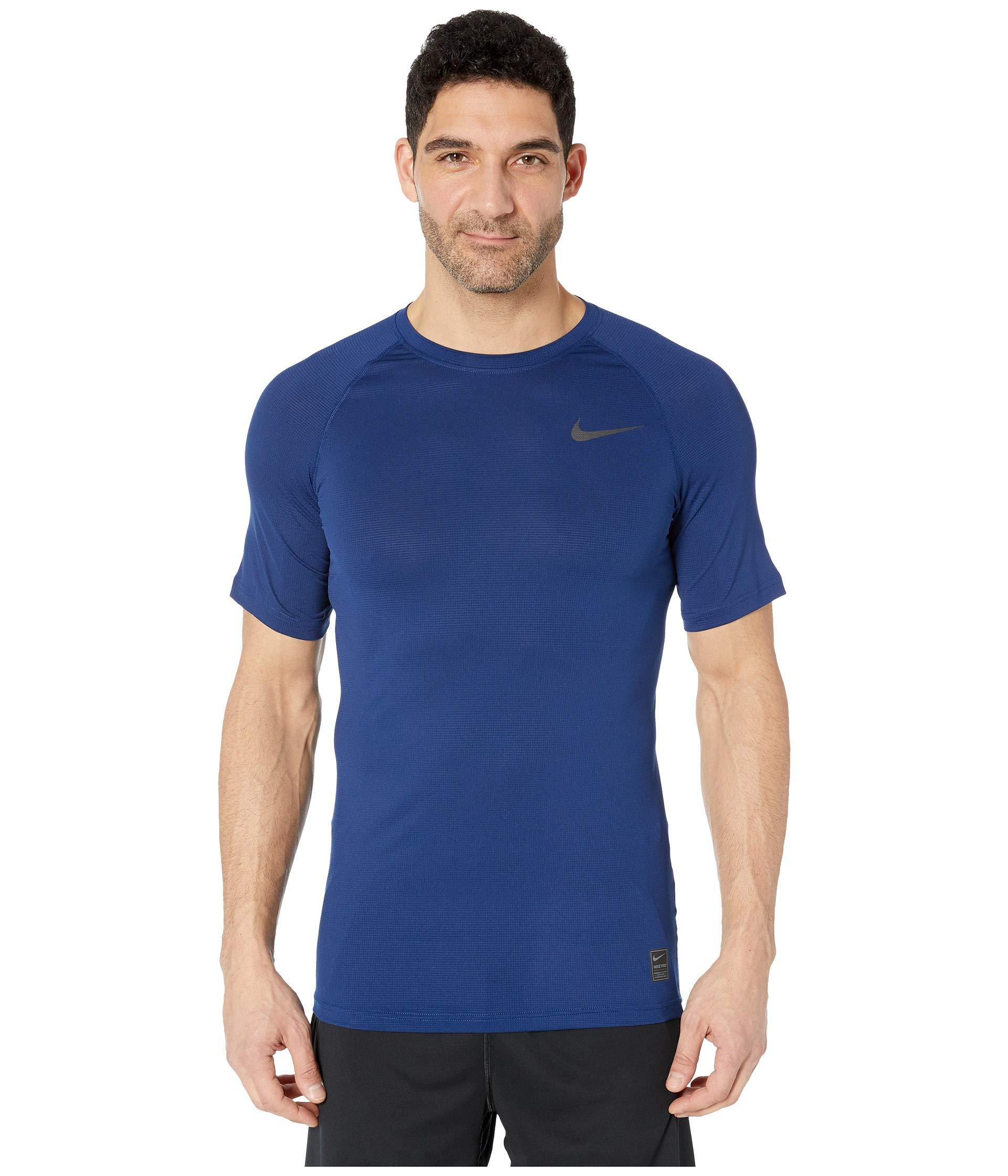 5cd653285 Lyst - Nike Breath Top Short Sleeve in Blue for Men