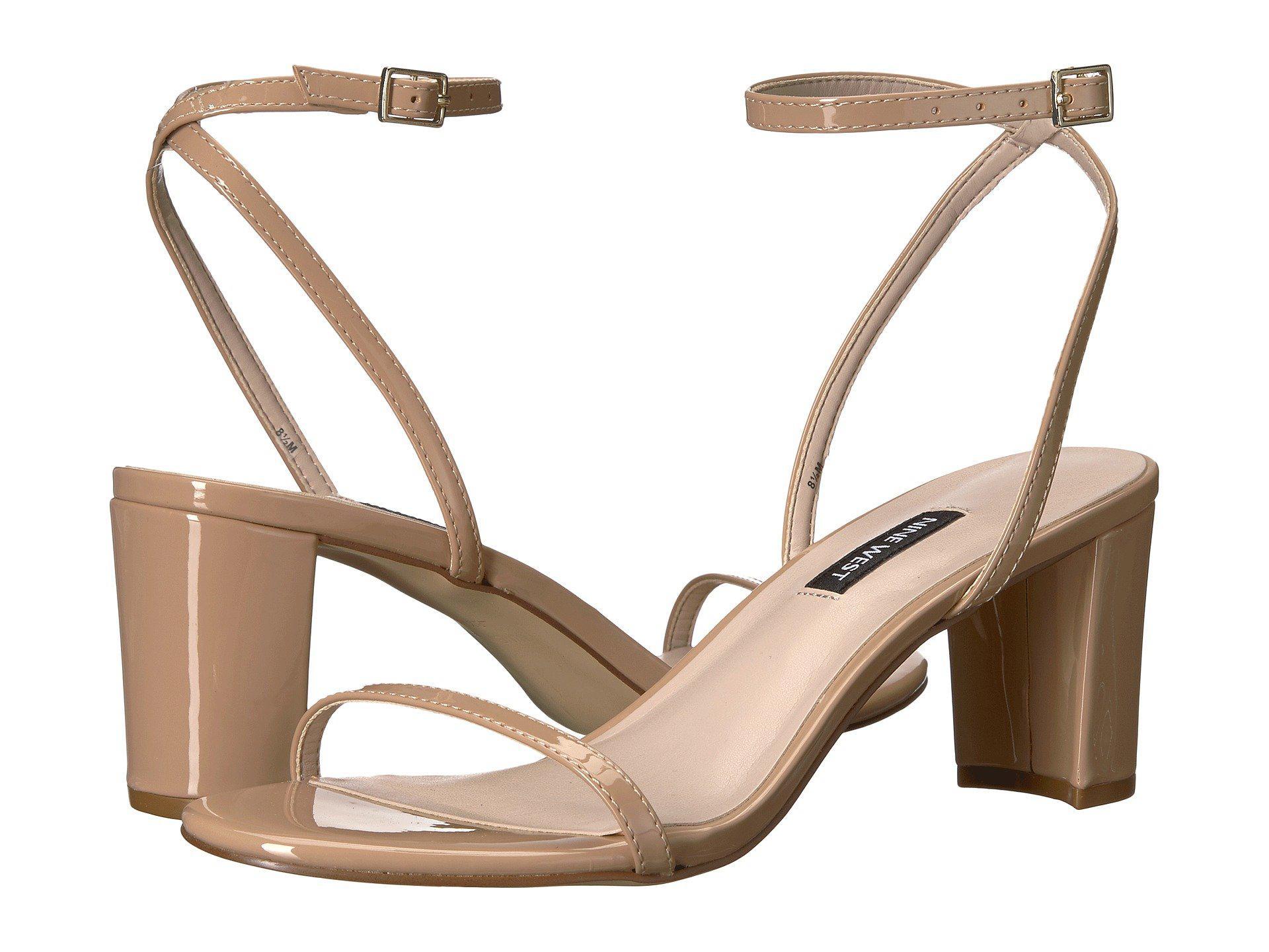 efebc590e26 Lyst - Nine West Provein Block Heel Sandal in Natural - Save 40%