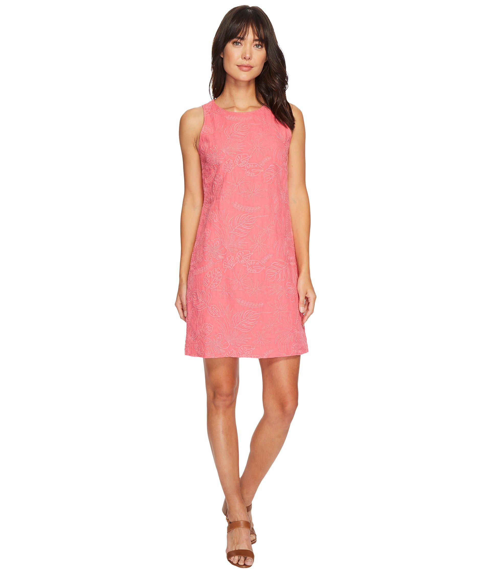 d88f6fc3db6 Lyst - Tommy Bahama Monstera Mash Embroidered Shift Dress in Pink