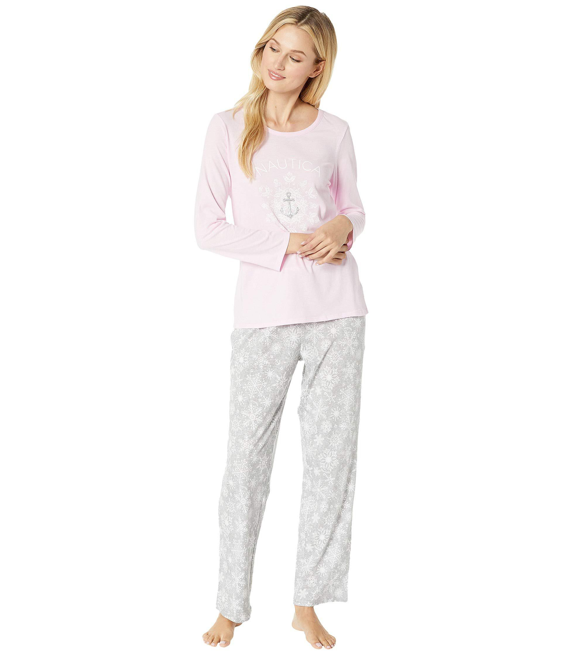 Lyst - Nautica Graphic Pajama Set in Gray - Save 38% cd33c3cce
