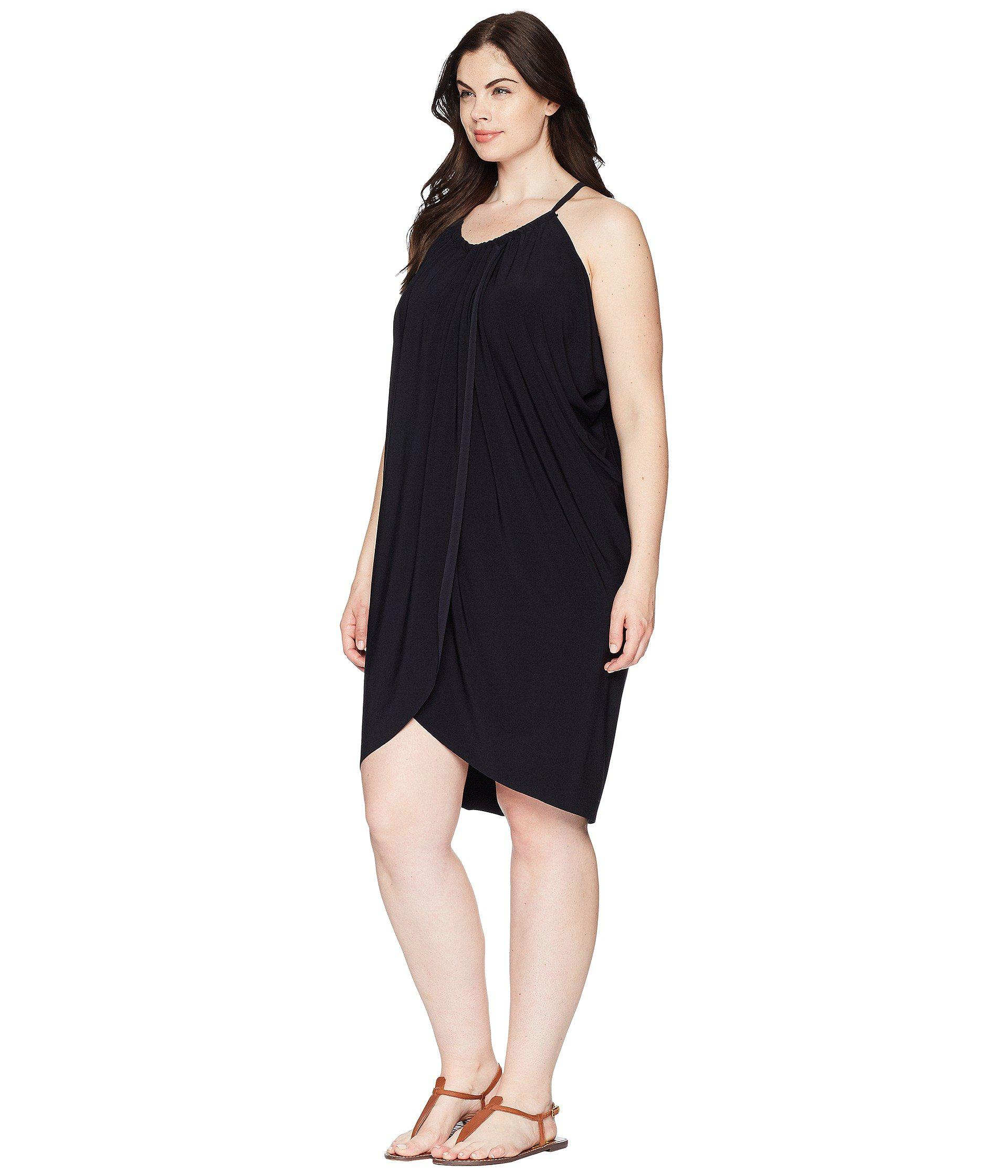 520c205d6d633 Lyst - Magicsuit Plus Size Draped Cover-up in Black