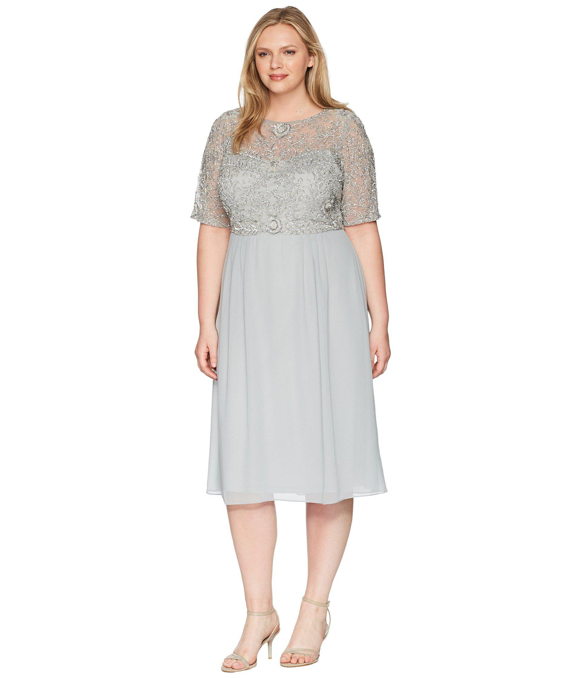 9b816de4d2d Lyst - Adrianna Papell Plus Size Beaded Dress - Save 25.480769230769226%