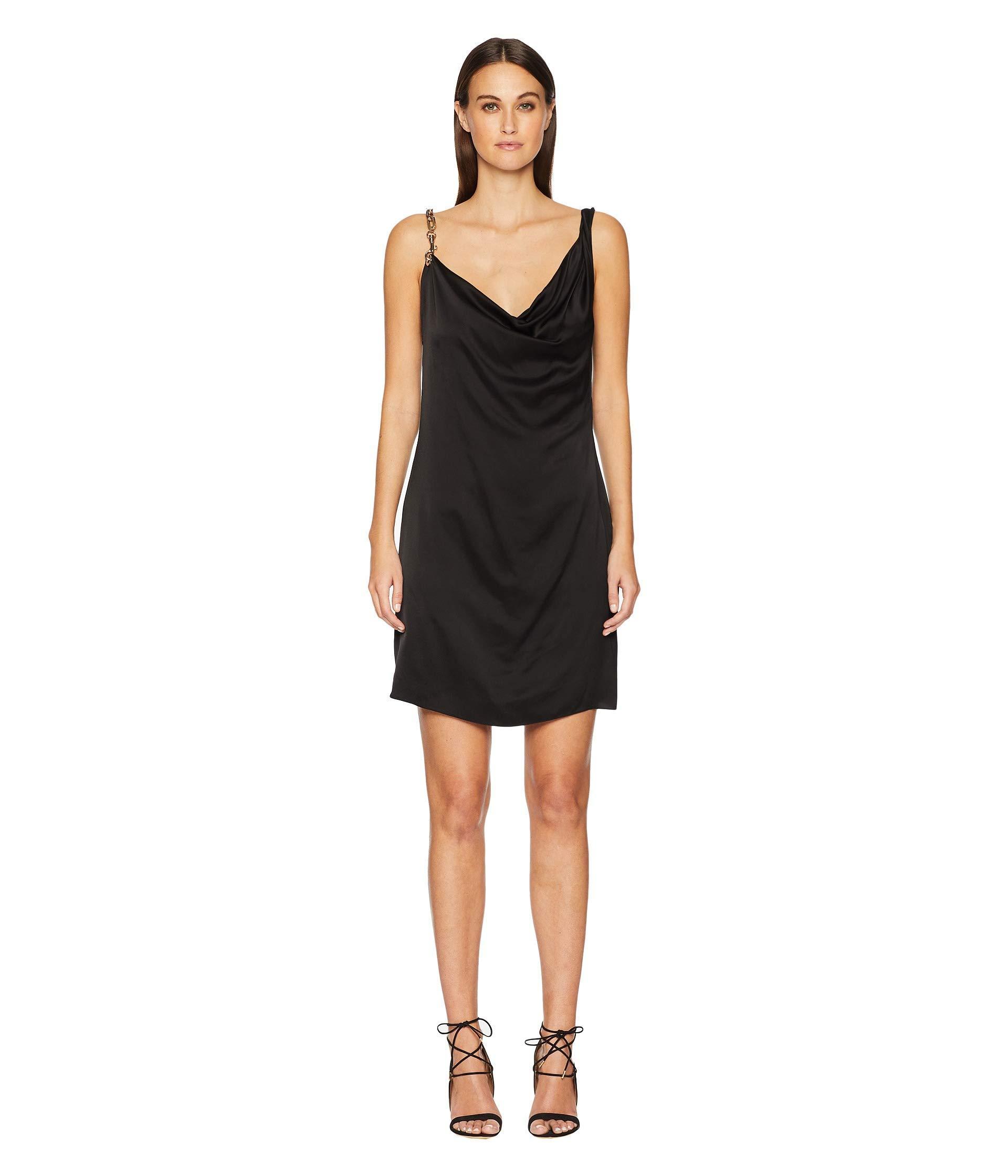 cc500544ca36 Versus - Black Abito Donna Tessuto Dress - Lyst. View fullscreen