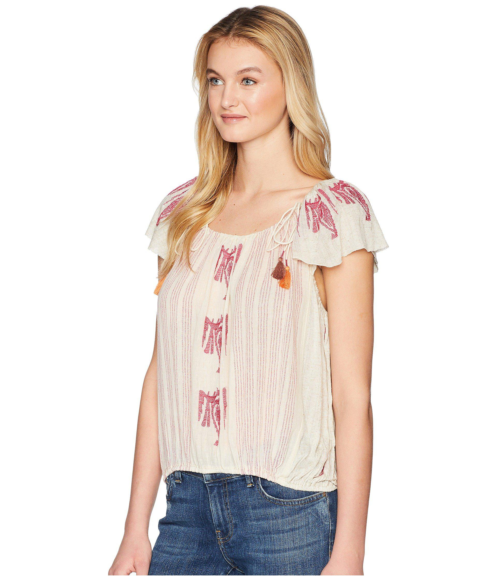 235c92d690871 Lyst - Free People Pukka Tee in Natural - Save 20%
